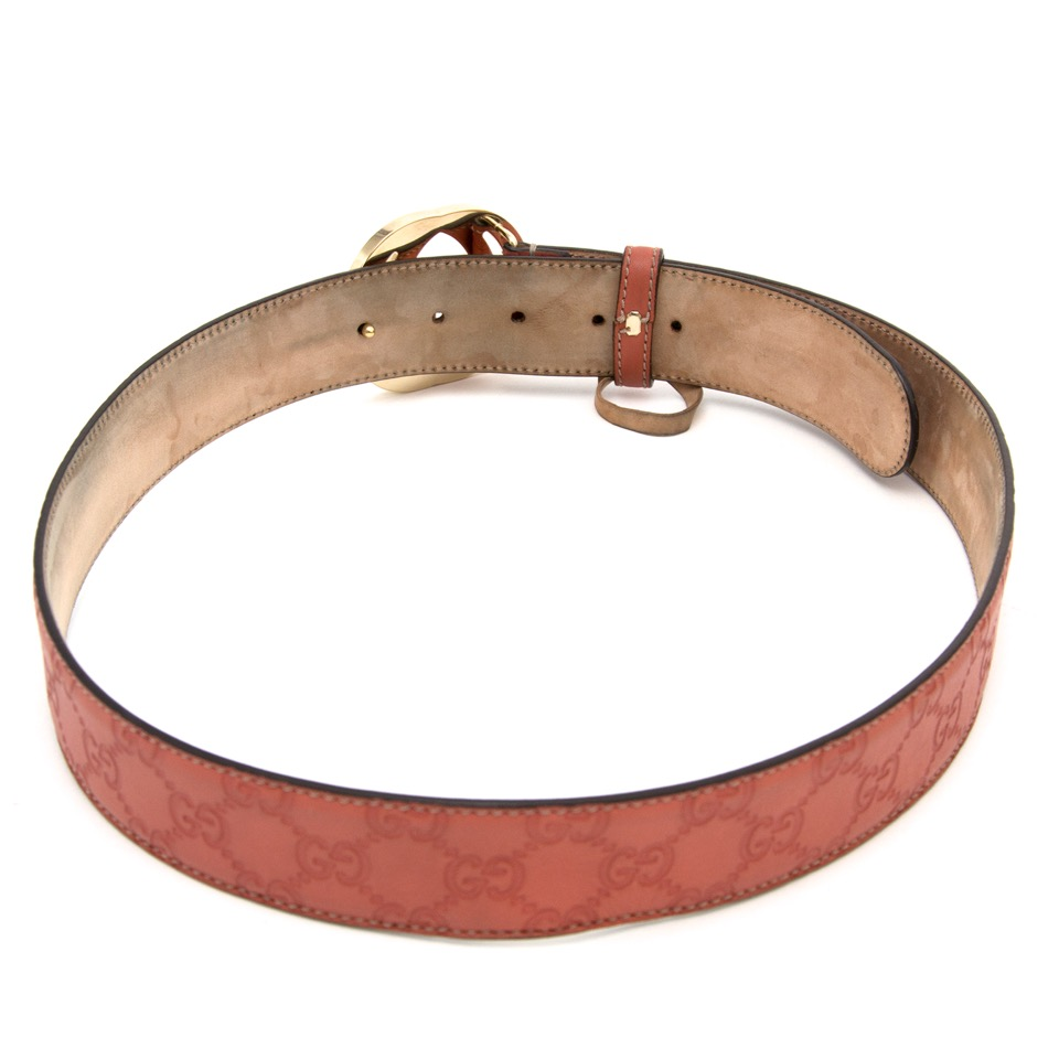 Online available with worldwide shipping Gucci Red Monogram Belt