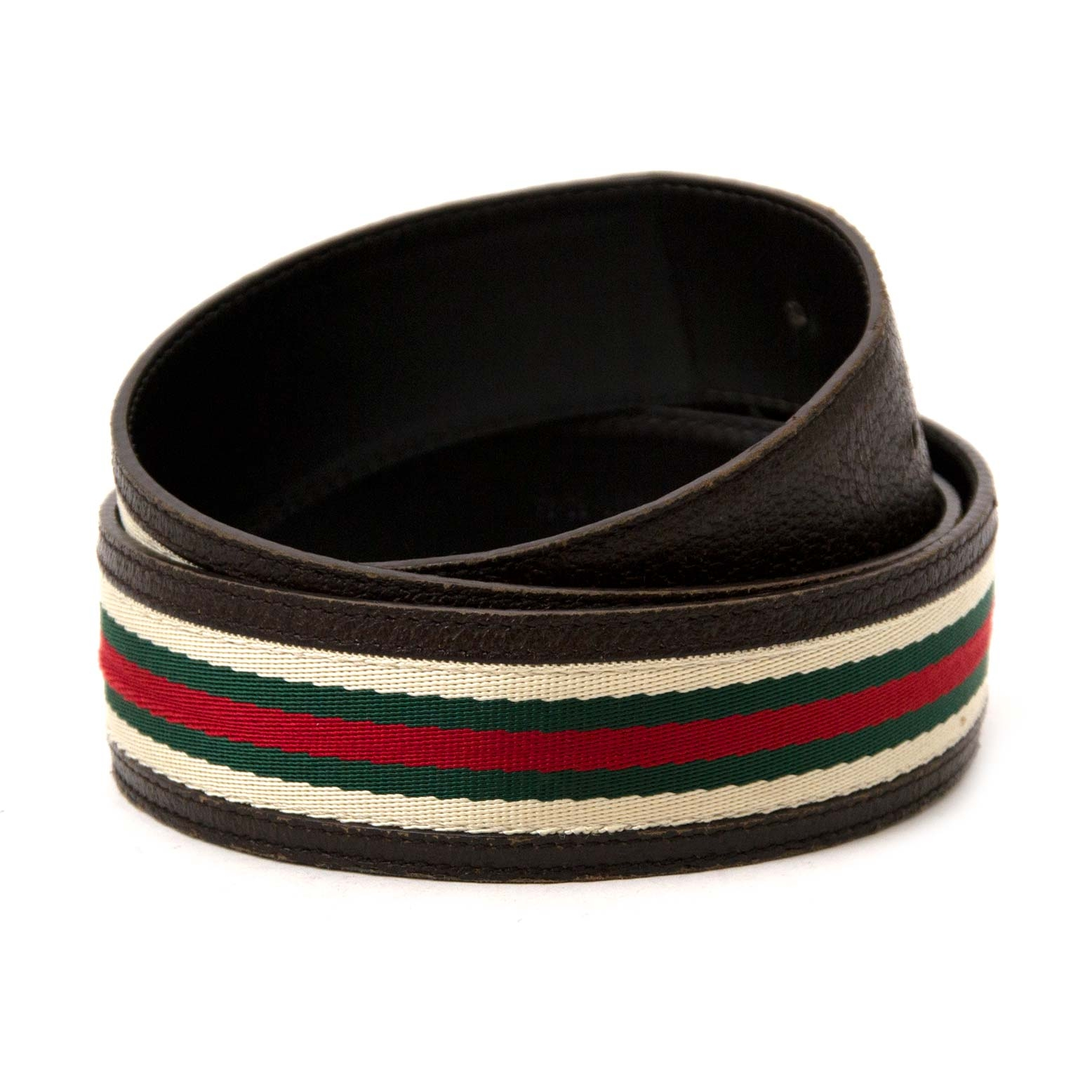 Buy authentic gucci web interlocking g belts at labellov vintage fashion webshop belgium