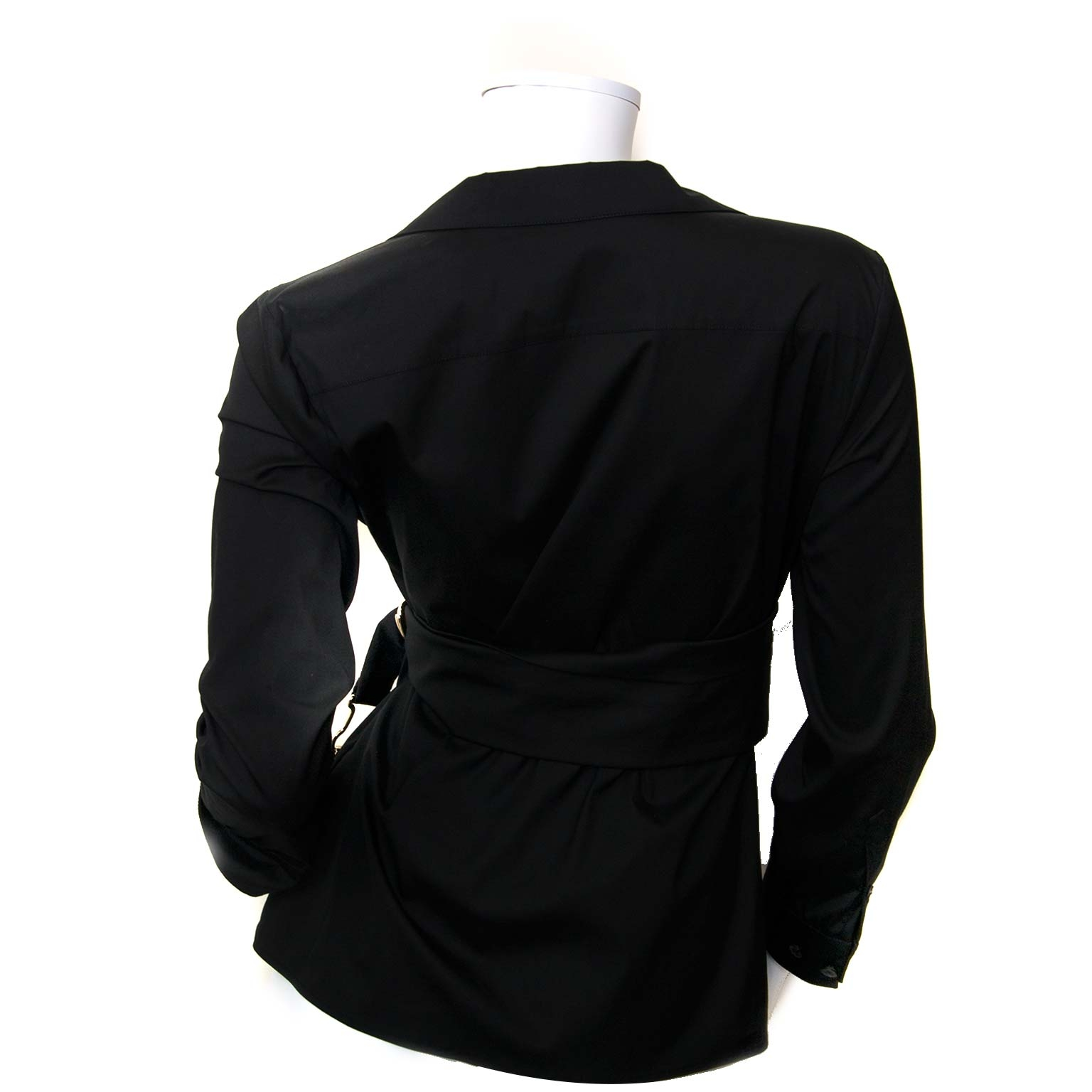 gucci front belted black shirt now for sale at labellov vintage fashion webshop belgium