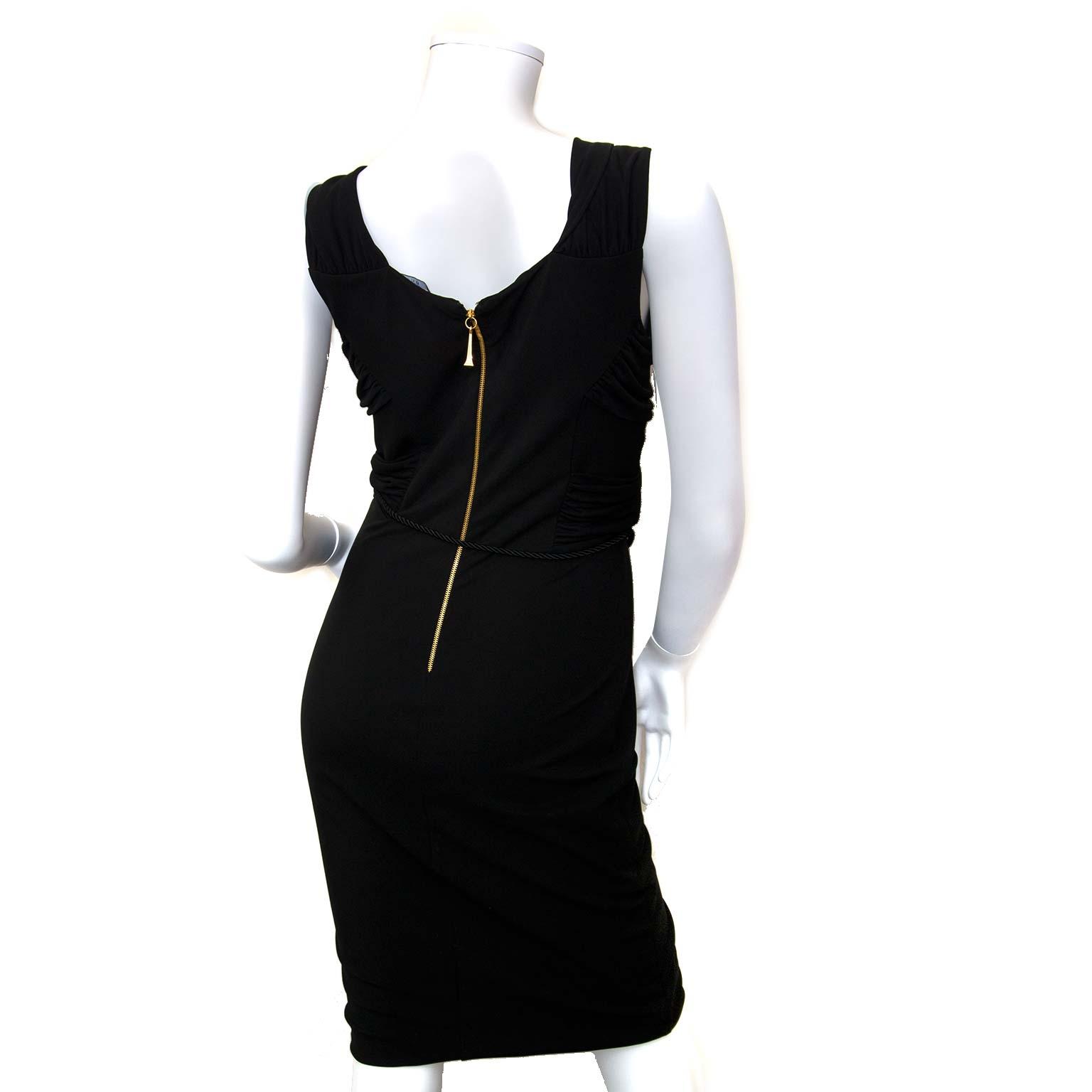 buy authentic gucci black tie knot dress now at labellov vintage fashion webshop belgium
