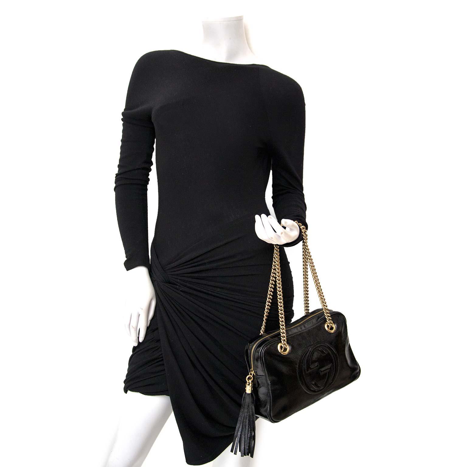 Gucci Patent Leather Disco Soho Chain Bag