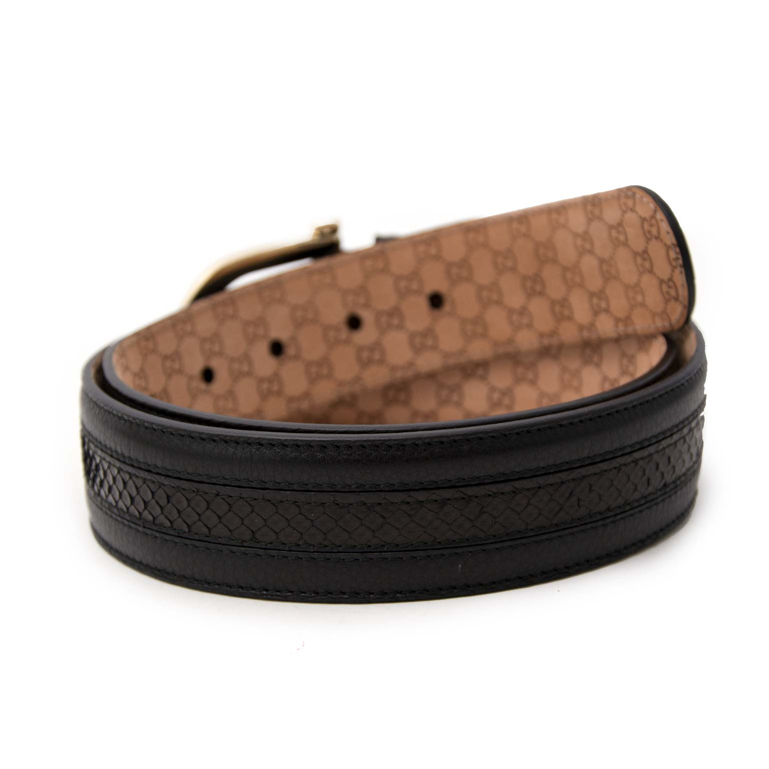 Gucci Black Leather Belt achetez secur en ligne