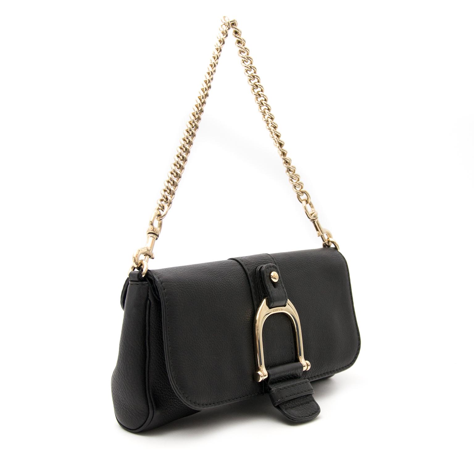 shop real Gucci black shoulder bag
