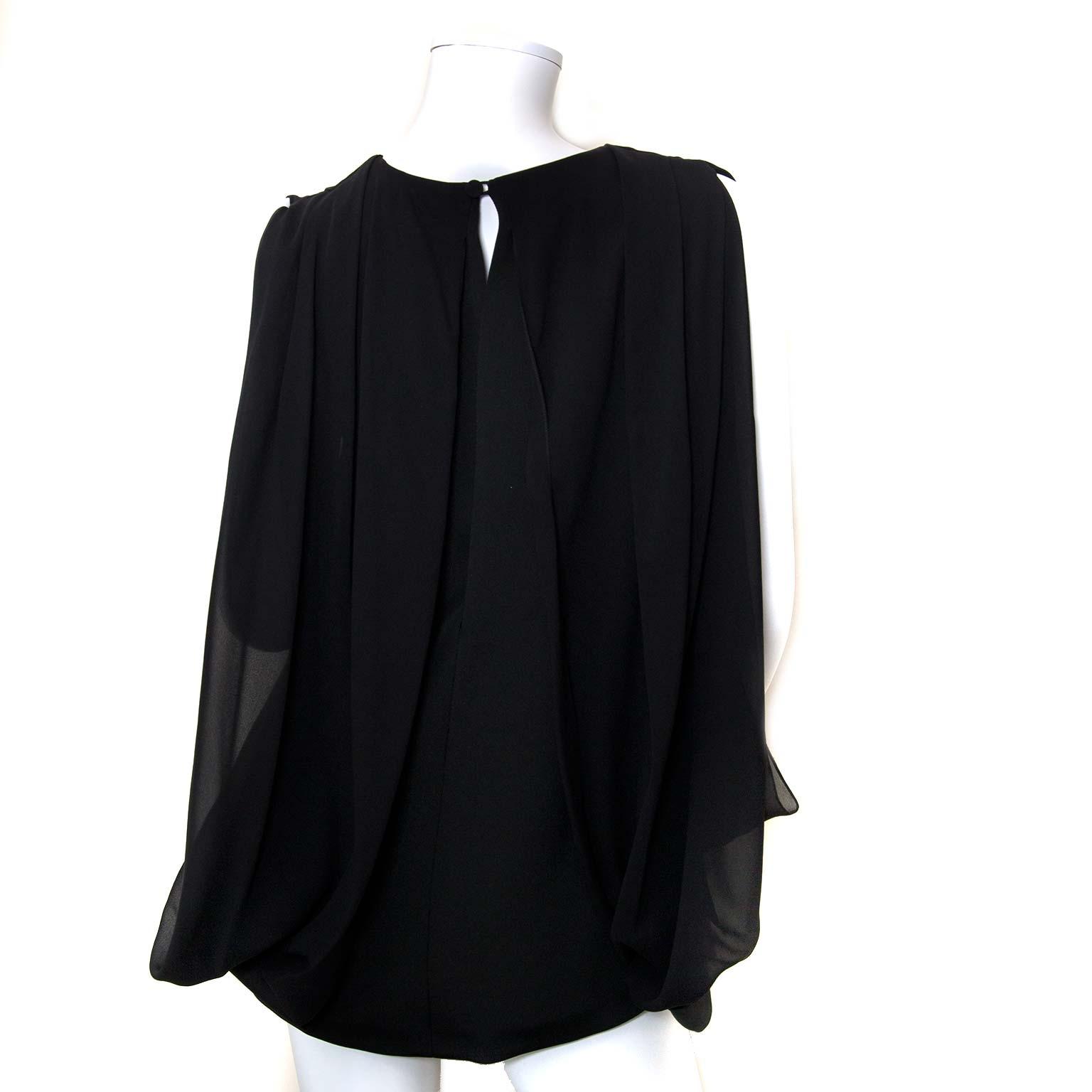 gucci black blouse at labellov vintage fashion webshop belgium