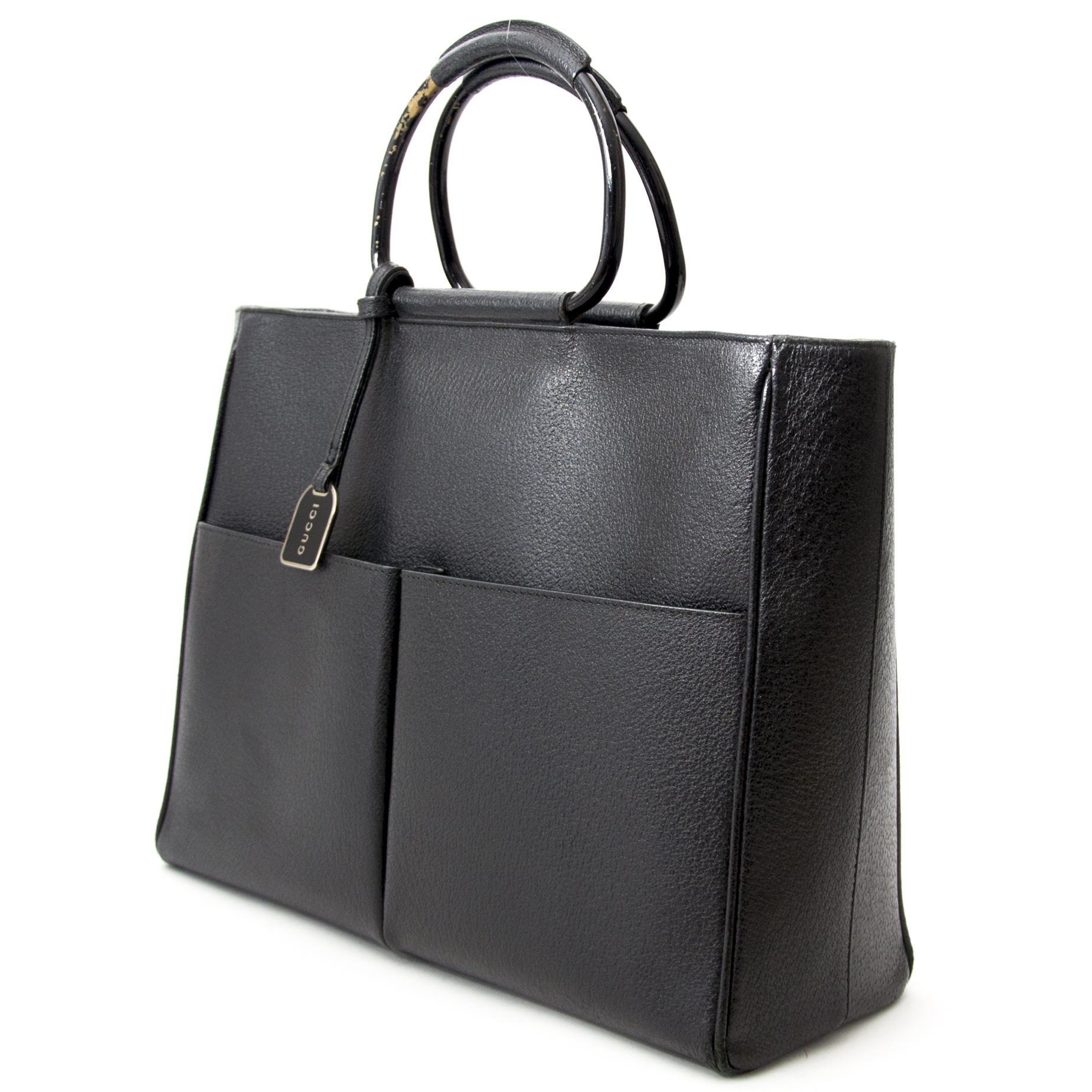 shop safe online at the best price you Gucci Black Top Handle Shopping Tote