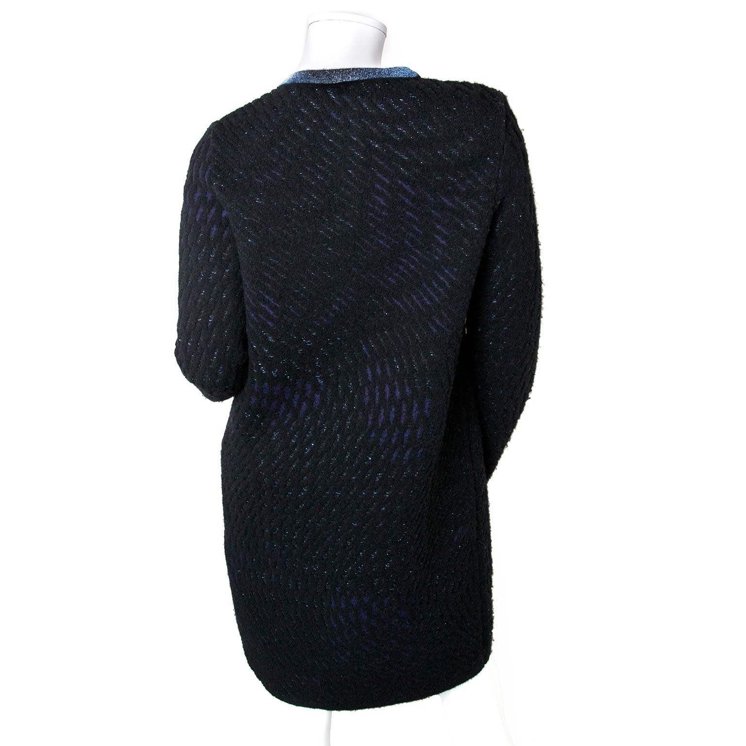 1eff7e36d676c6 Nu te Missoni Knitted Black And Blue Cardigan - Size 40 now online at  labellov.com for