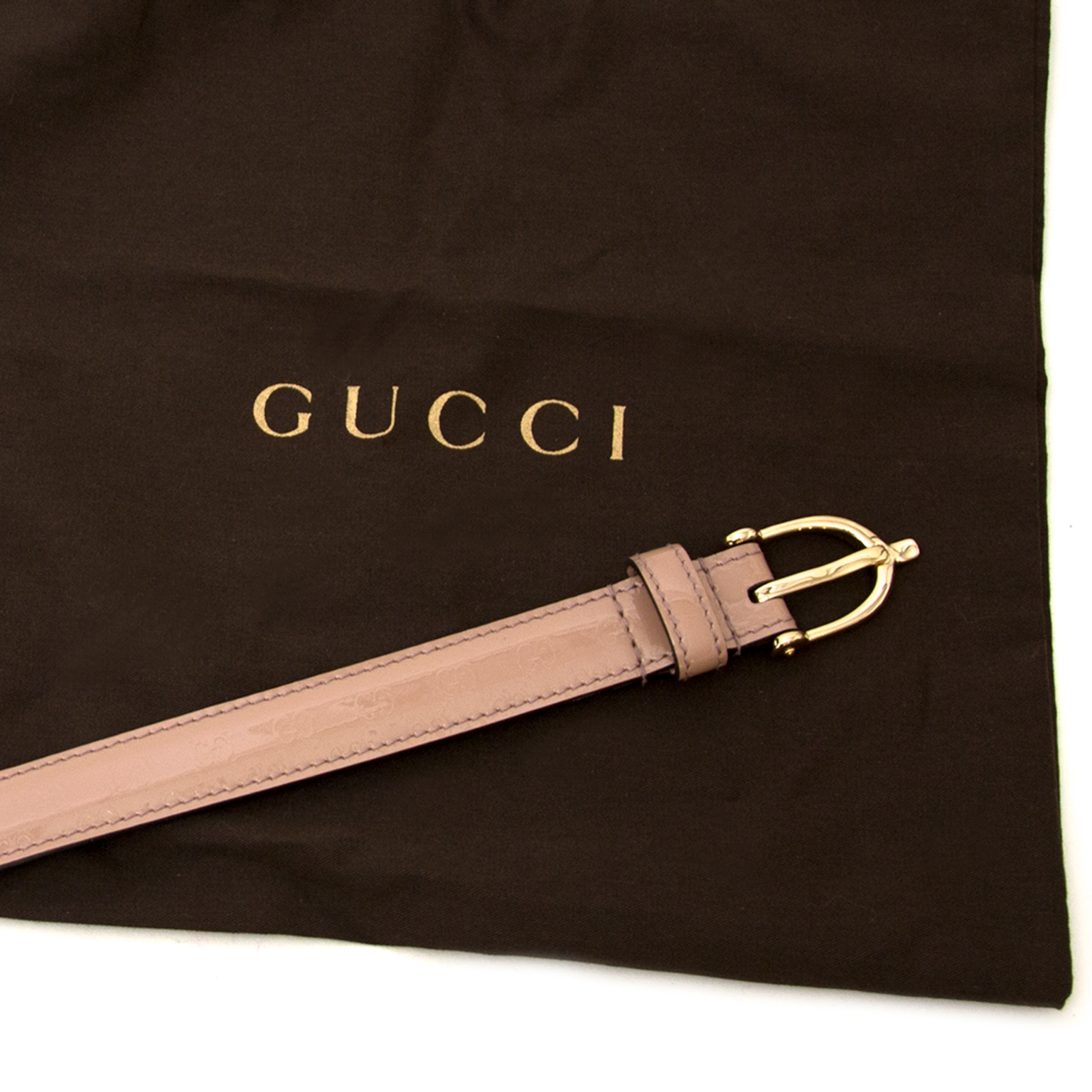 safe online shopping at labellov vintage fashion webshop belgium with gucci patent blush monogram belts