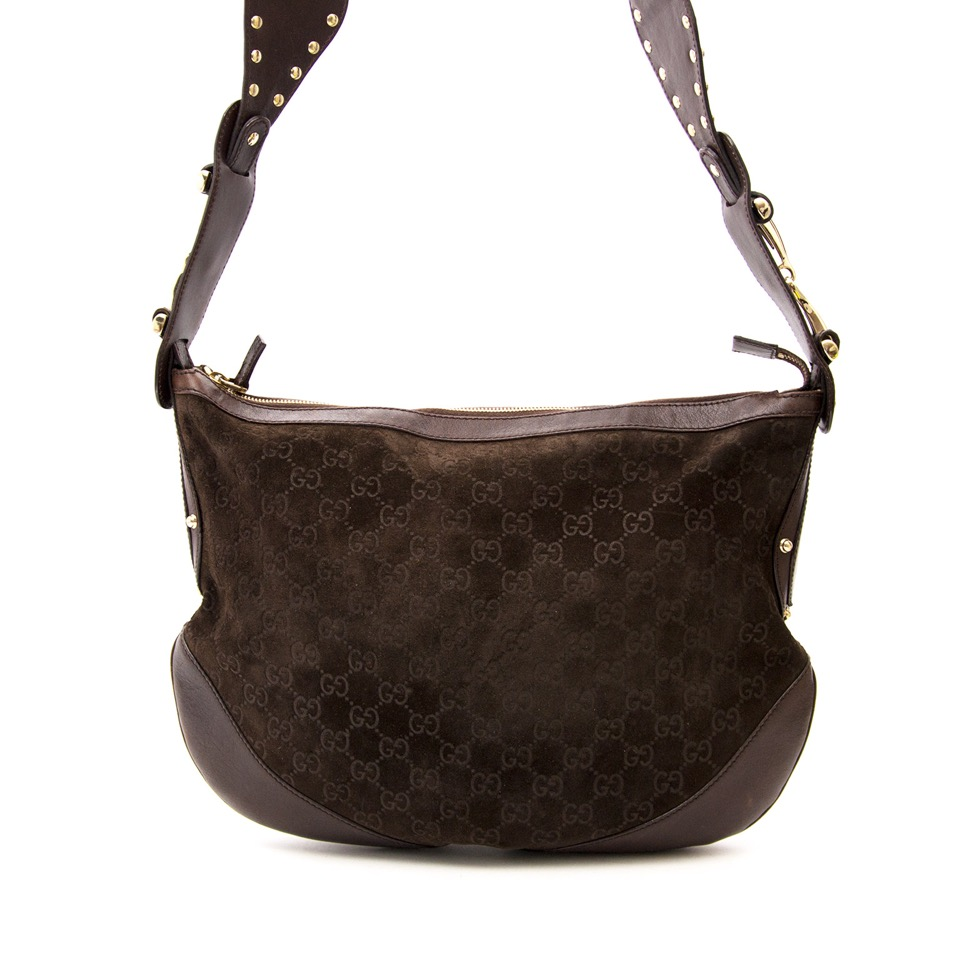 57536d756 Safe and Vintage Gucci GG Monogram Shoulder Bag for the best price at  Labellov webshop. Safe and