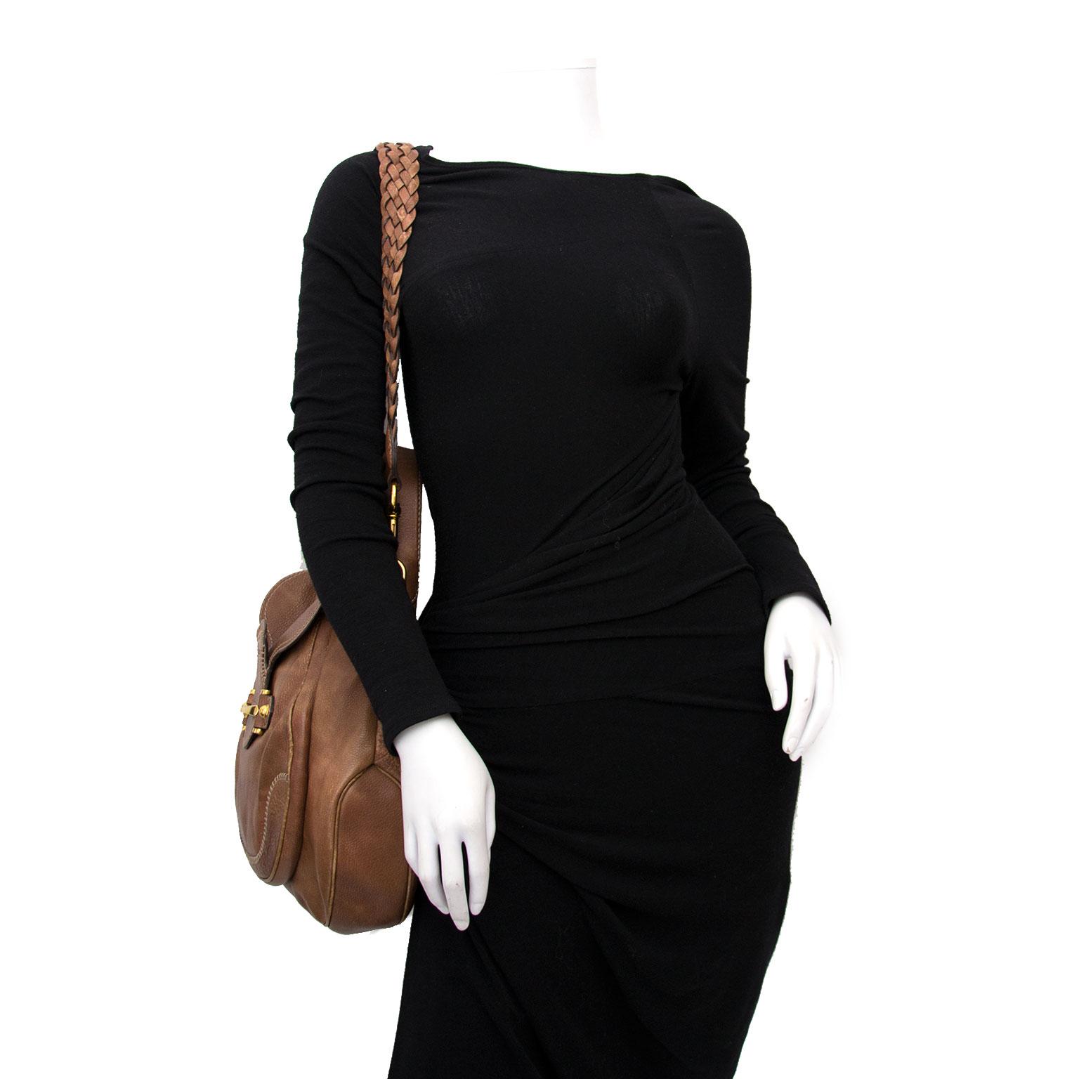 acheter en ligne pour le meilleur prix sac a main Gucci Brown Horsebit Bag + Strap