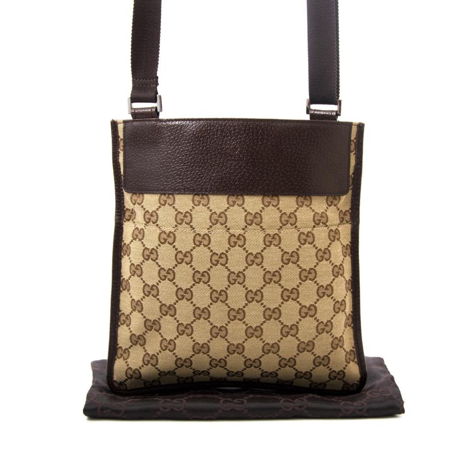 acheter comme neuf sac a main Gucci Monogram Messenger Crossbody Web Bag