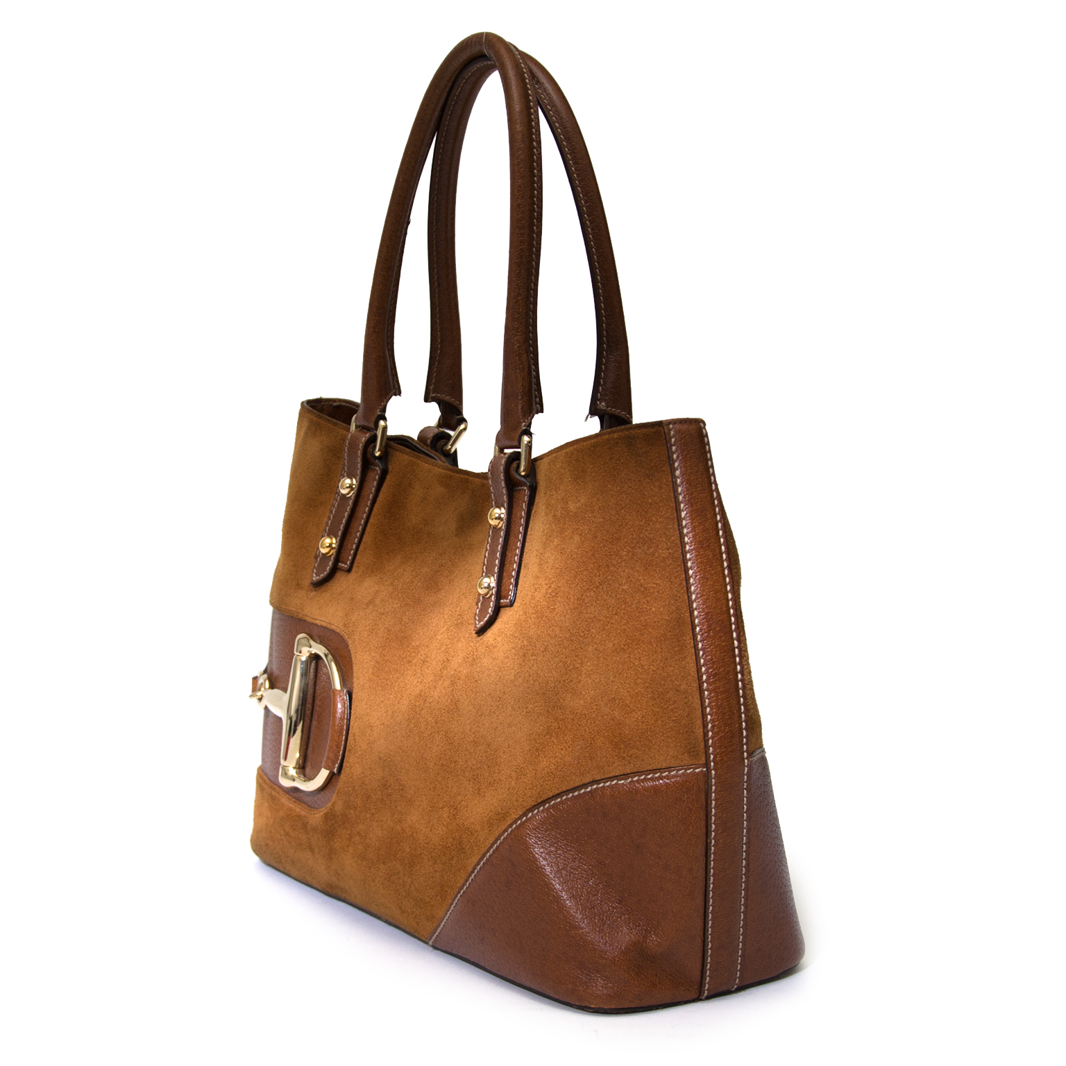 shop safe online at the best price Gucci brown suede horsebit like new webshop www.labellov.com