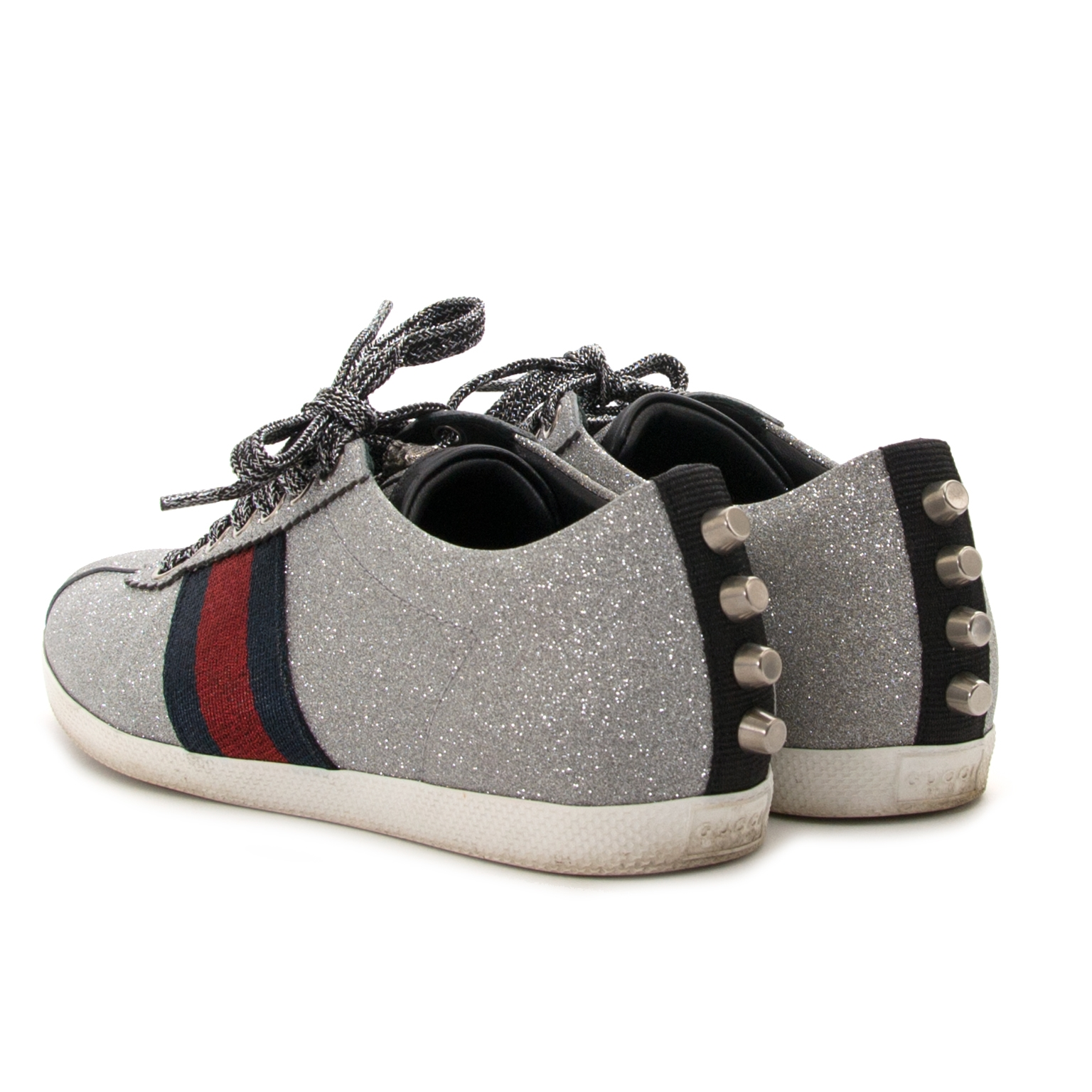 Gucci Glitter Web Sneaker With Studs - Size 36,5 now for sale at labellov antwerp for the best price