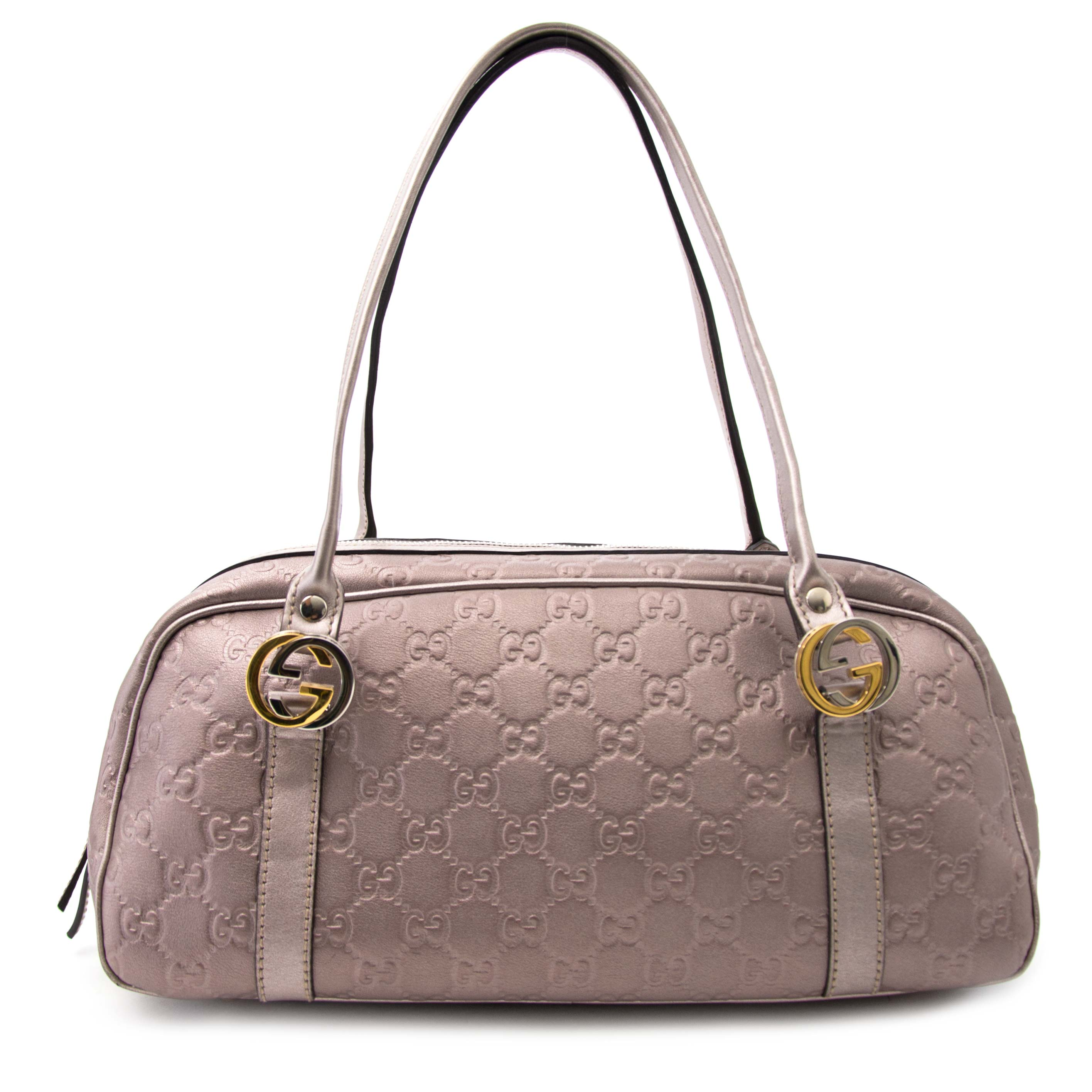 Koop uw Gucci Guccisima Metallic Rose Bowling Bag