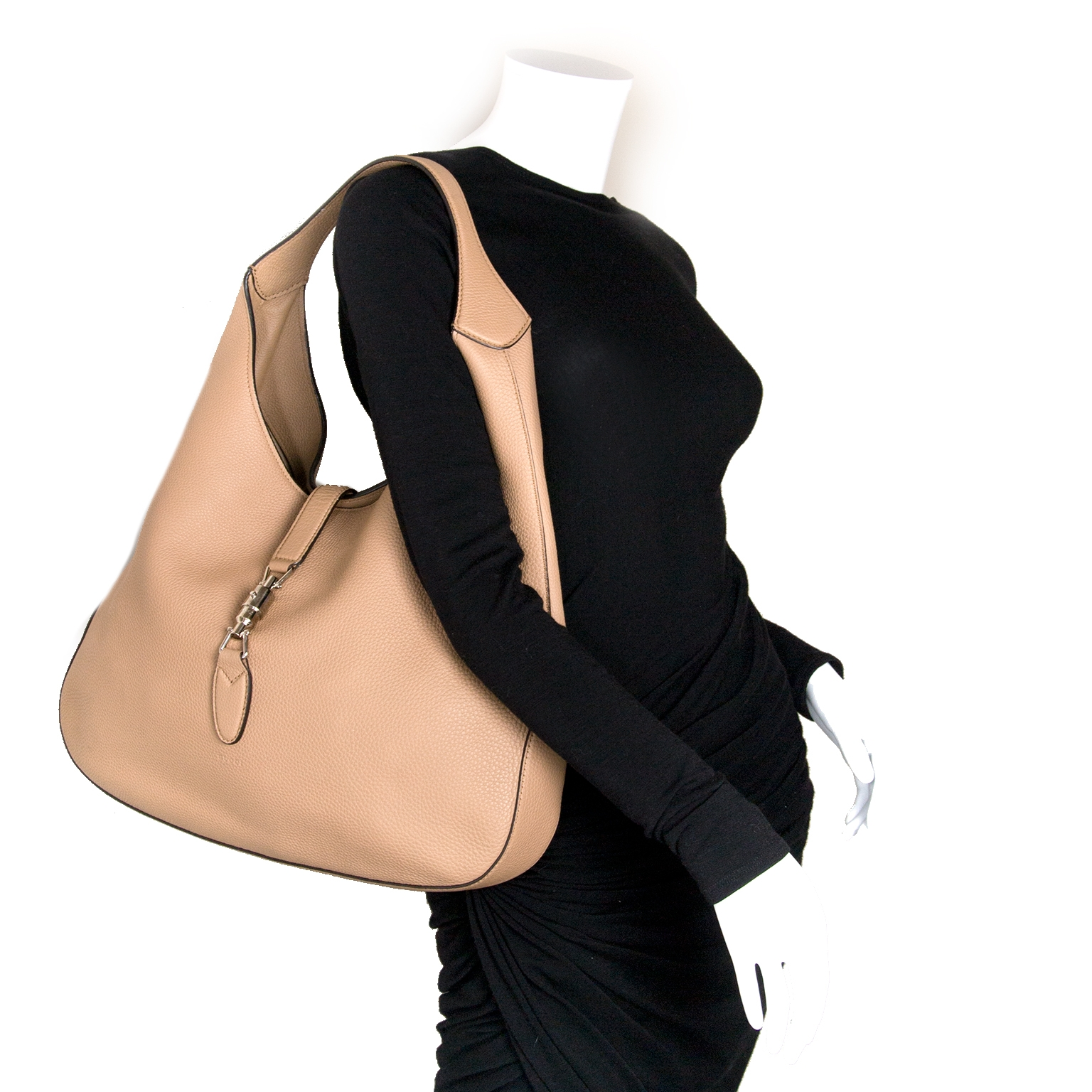 Gucci Jackie Camel Leather Hobo Bag for the best price at Labellov
