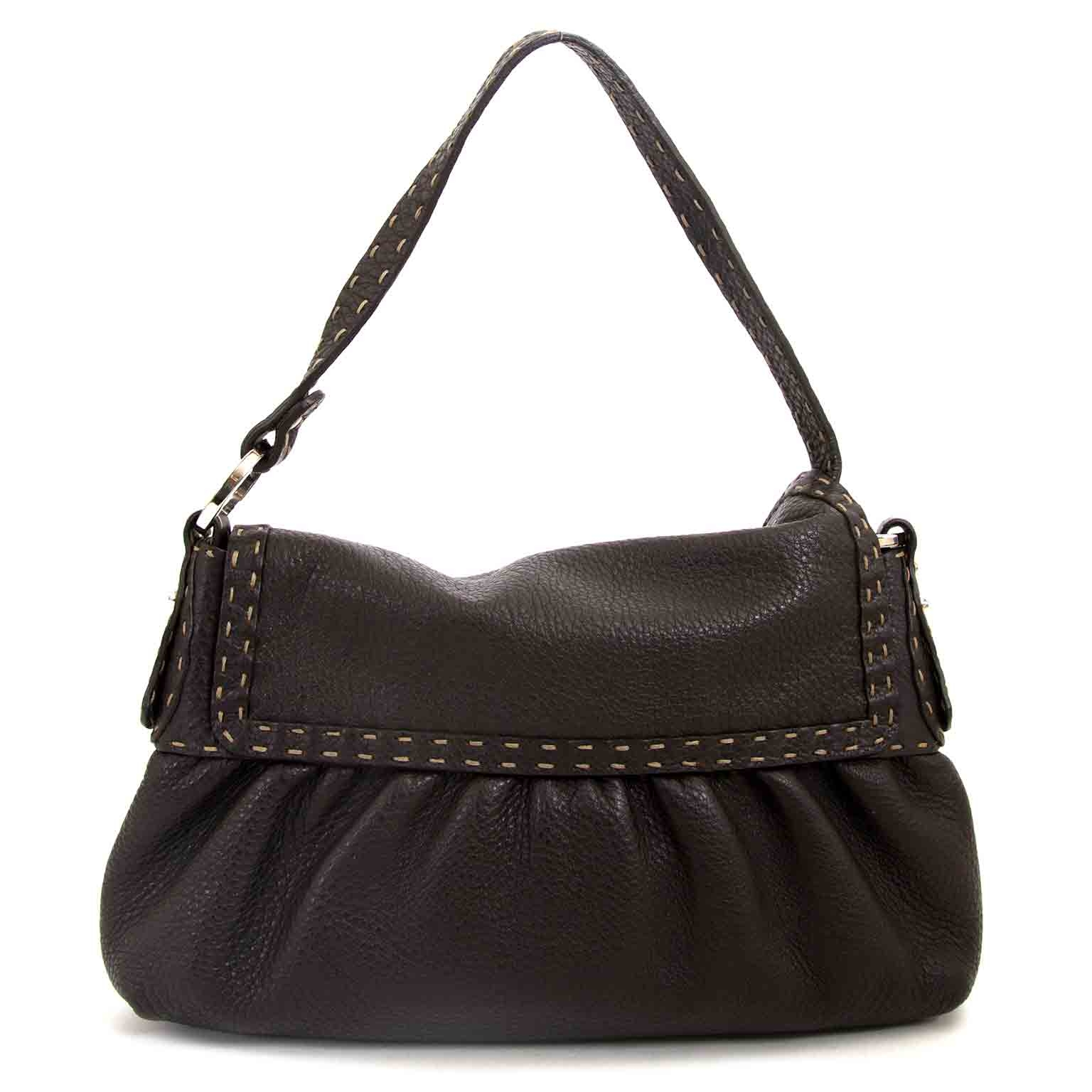 buy Fendi Brown Leather Salleria Bag at labellov pour le meilleur prix