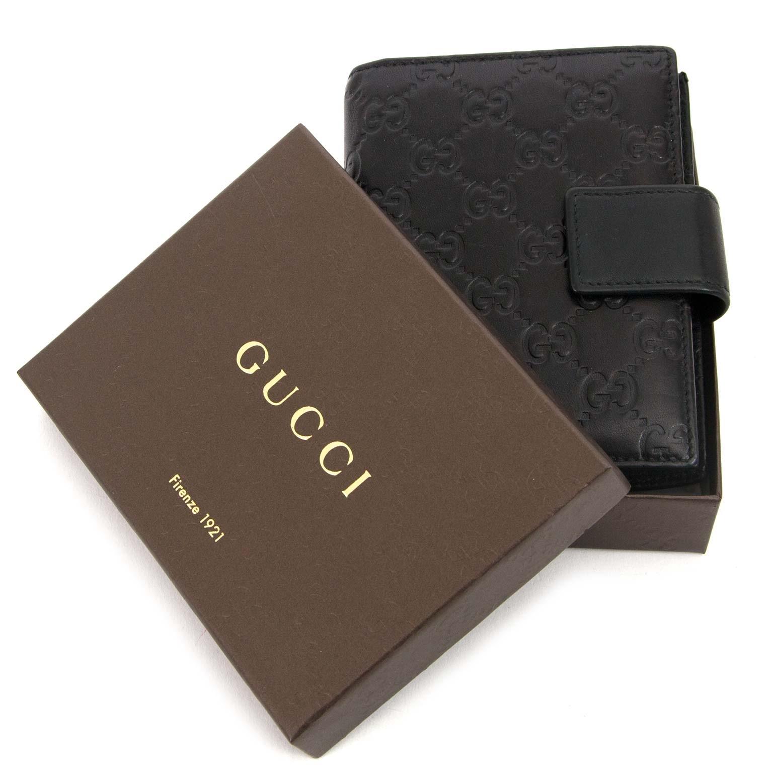 gucci guccissima small black agenda now for sale at labellov vintage fashion webshop belgium