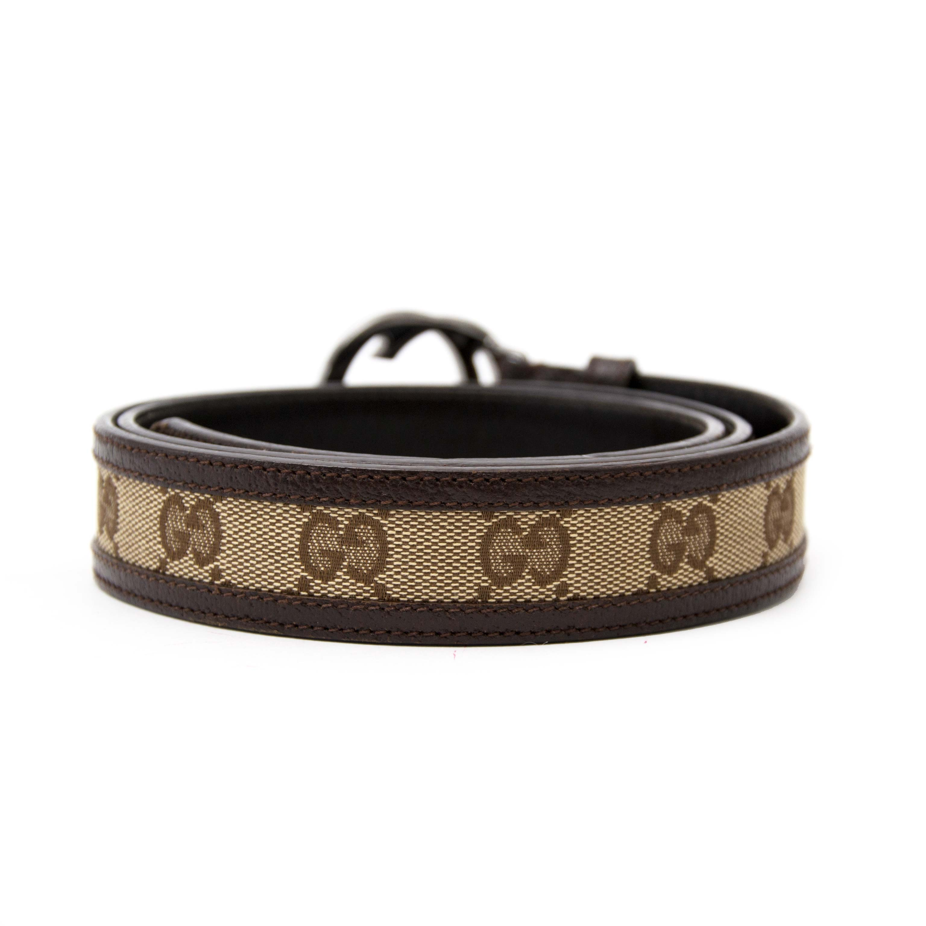 Looking for a beautiful belt? Gucci Monogram GG Belt for sale. www.labellov.com. Safe and secure shopping, worldwide shipping.