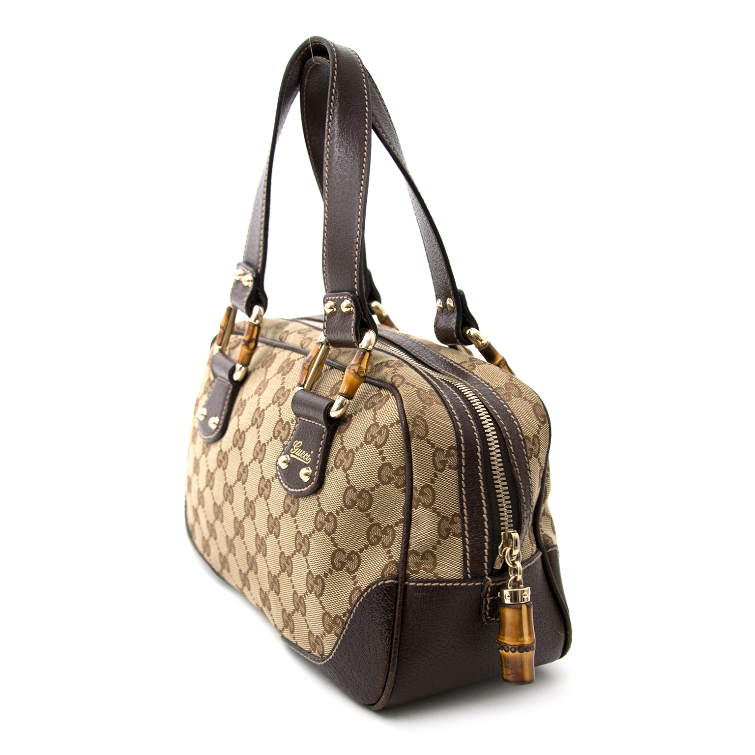 Acheter en ligne chez labellov.com pour le meilleur prix gucci bamboo monogram canvas bag