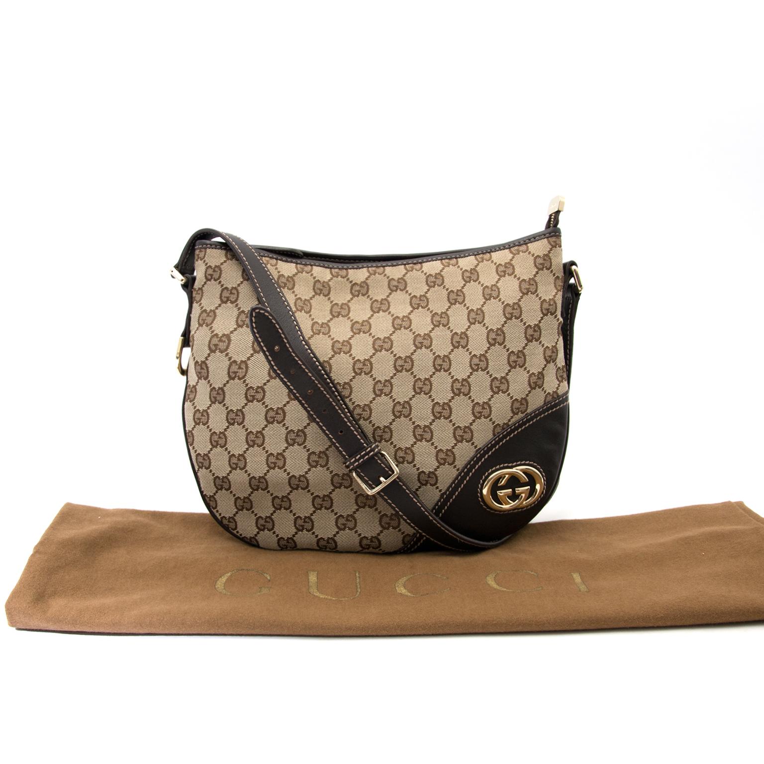 Koop nu veilig een echt Gucci monogram cross body op www.labellov.com