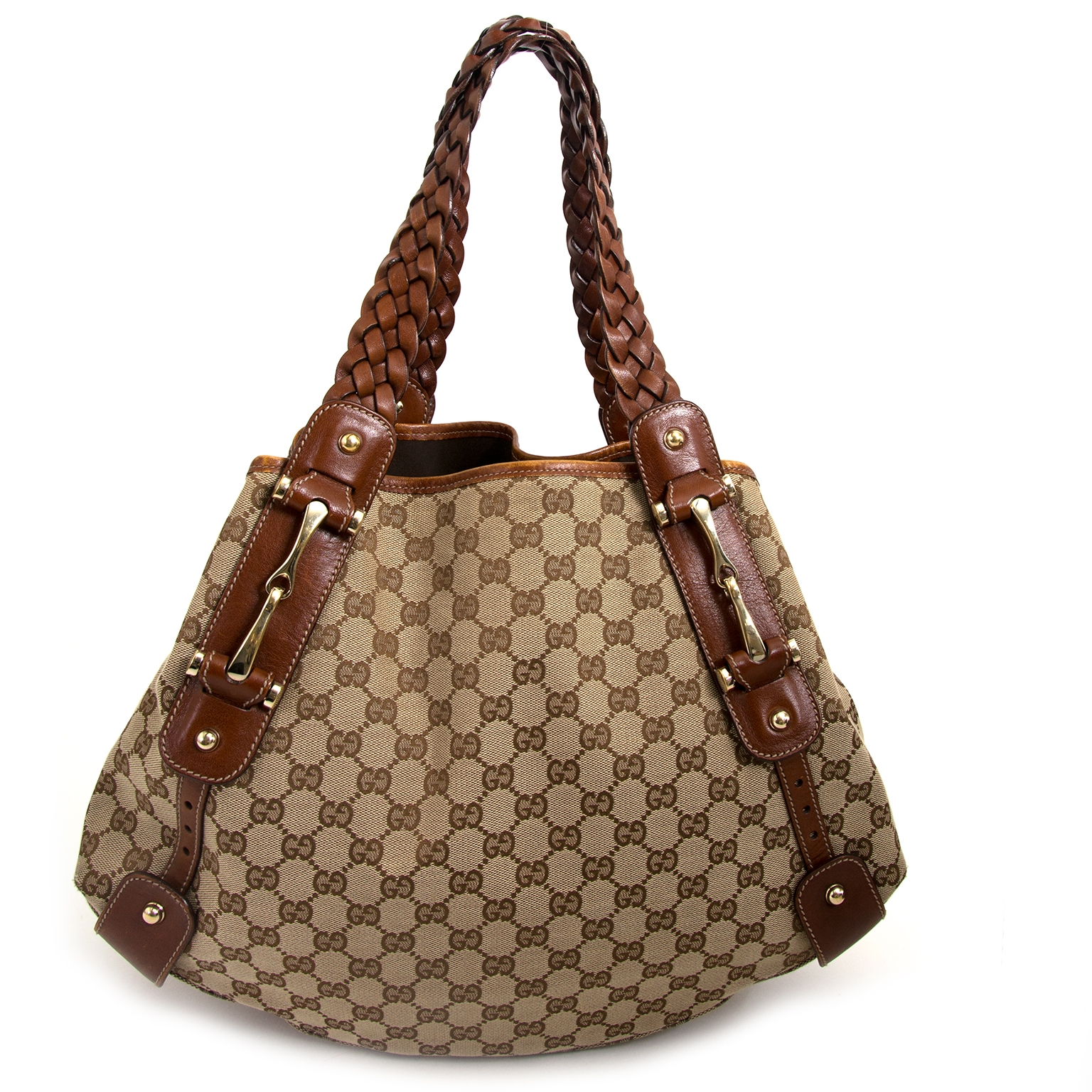 achetez Gucci Beige/Brown Monogram Pelham Shoulder Bag  chez labellov pour le meilleur prix