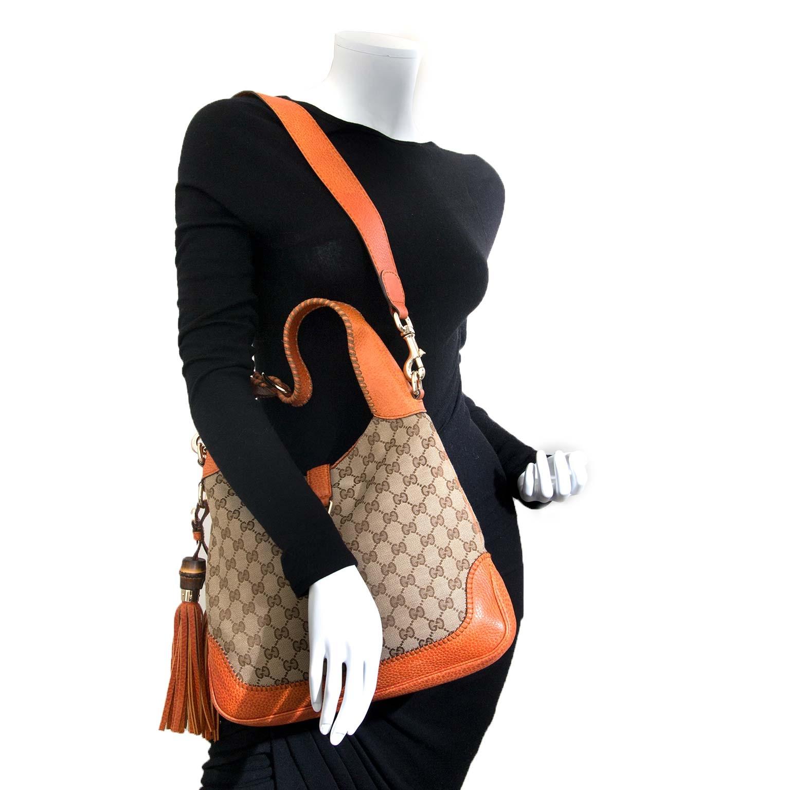 ab372284ef2e ... sale at labellov vintage fashion webshop belgium gucci jackie monogram  hobo tas nu te koop bij labellov vintage mode webshop belgië