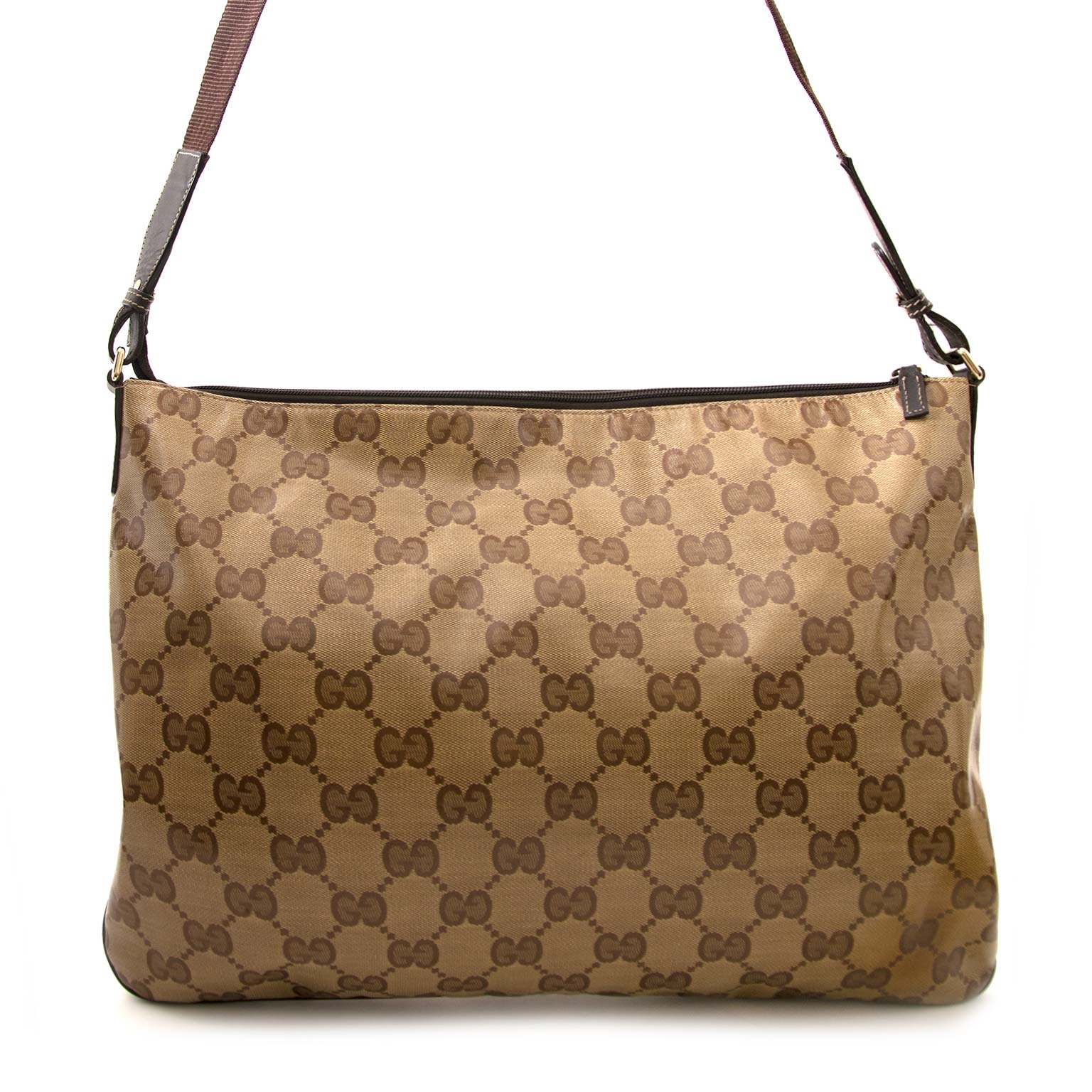 secondmain Gucci Coated Monogram Canvas Bag en vendre sur labellov