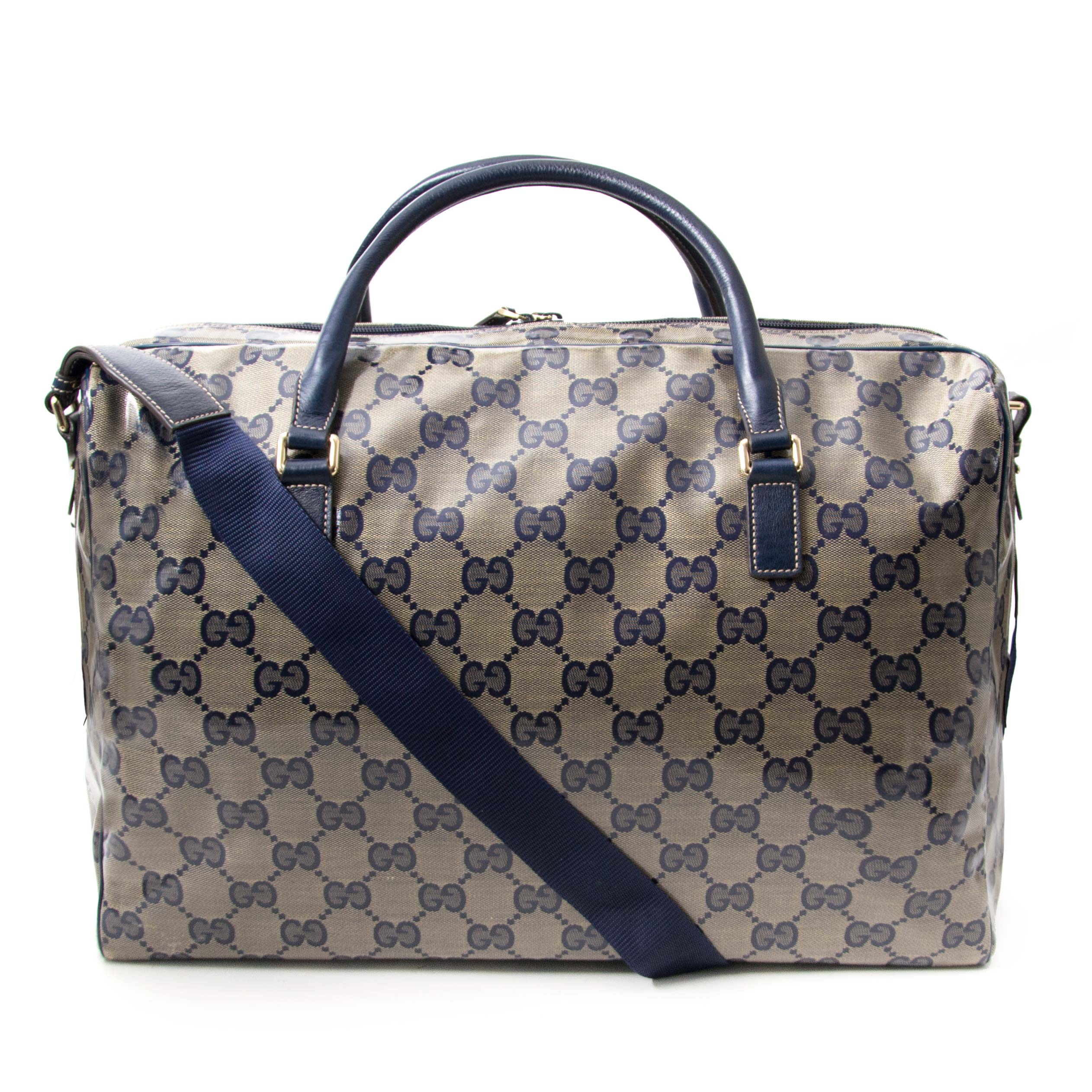 16a128682 ... Buy and sell your authentic Gucci GG Supreme Coated Monogram Canvas  Travel Bag for the best