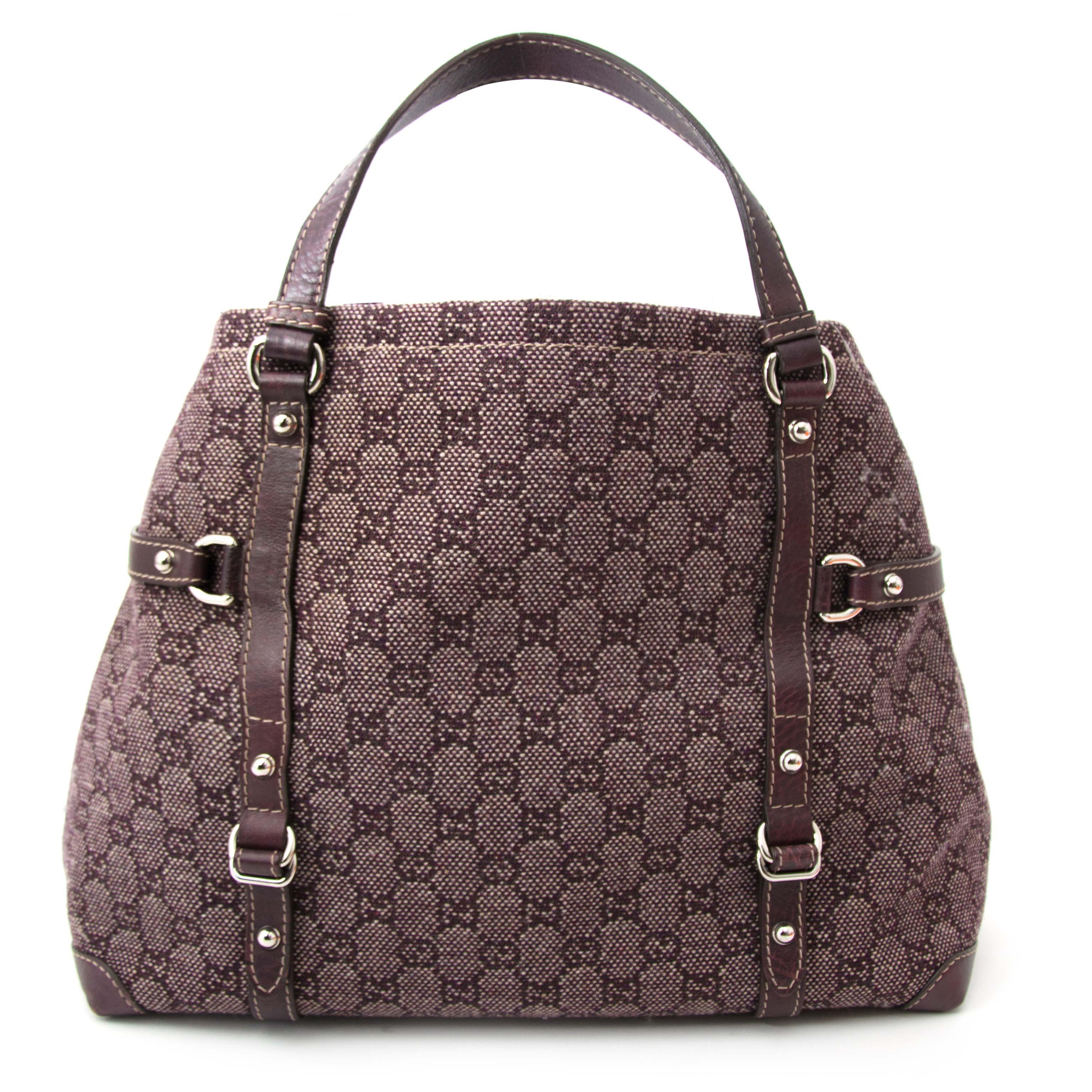 bb8e9f3e60a ... Acheter secur en ligne Gucci Monogram Tweed Monogram Plum Shopper
