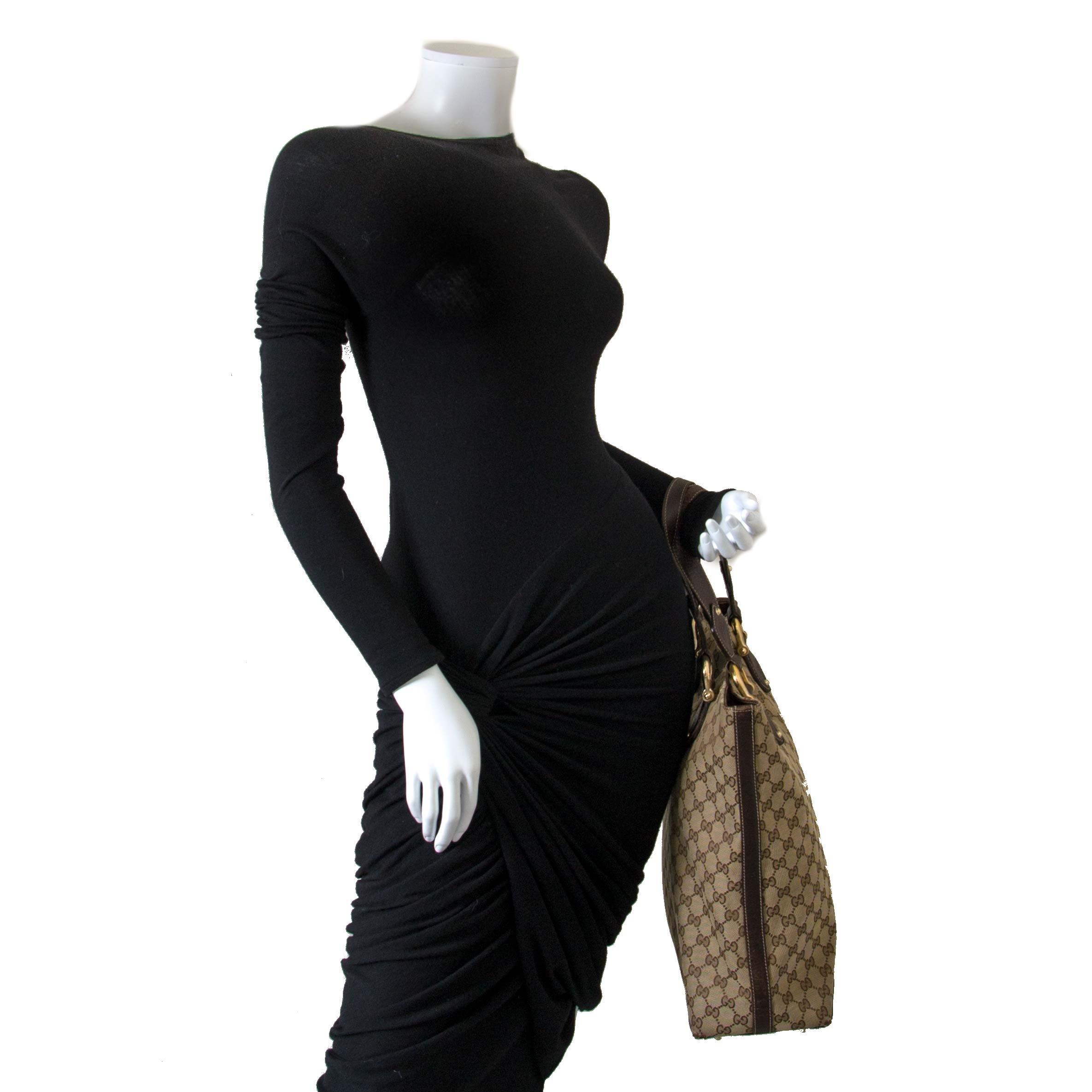 Gucci Canvas Monogram Shopper Tote kopen en verkopen aan de beste prijs