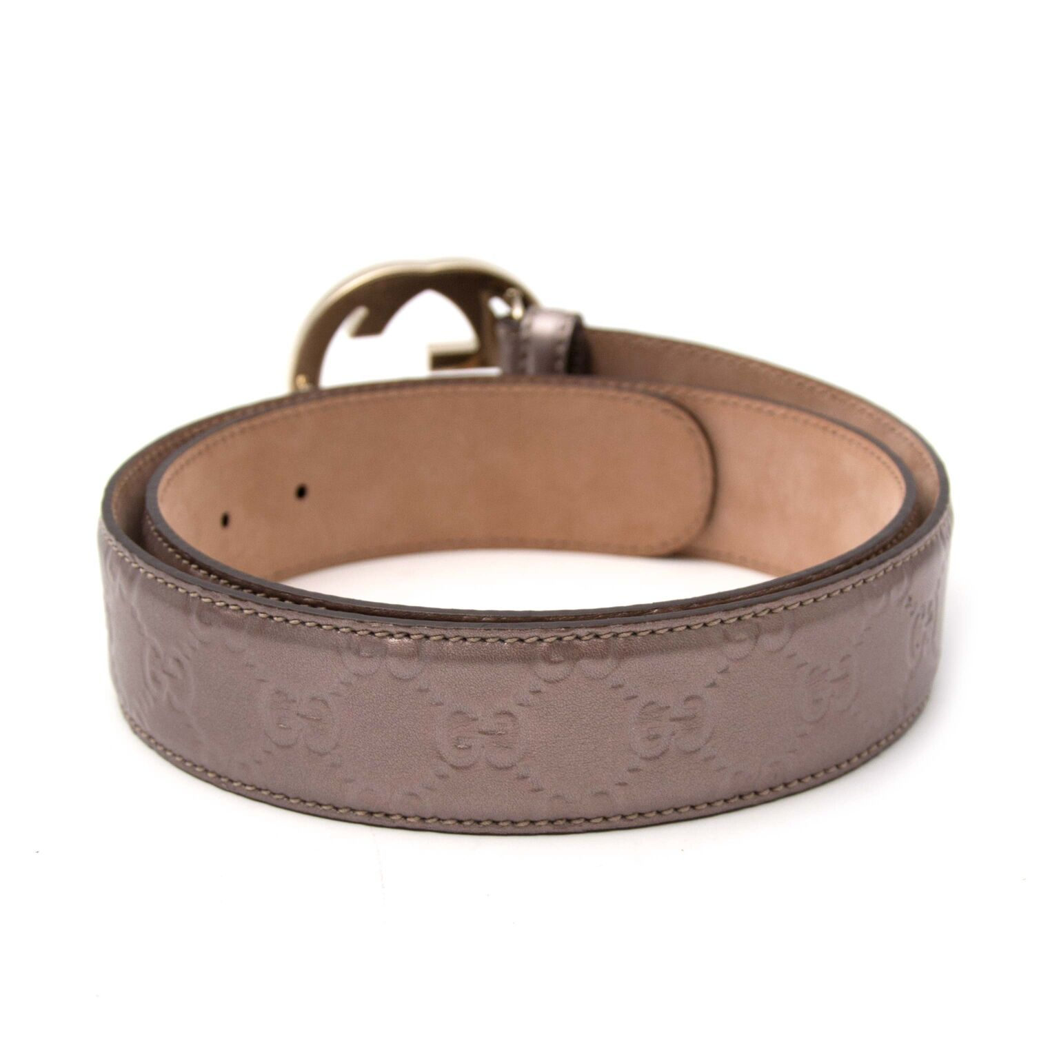 Buy now a beautiful taupe beld from Gucci on the online webshop labellov.com