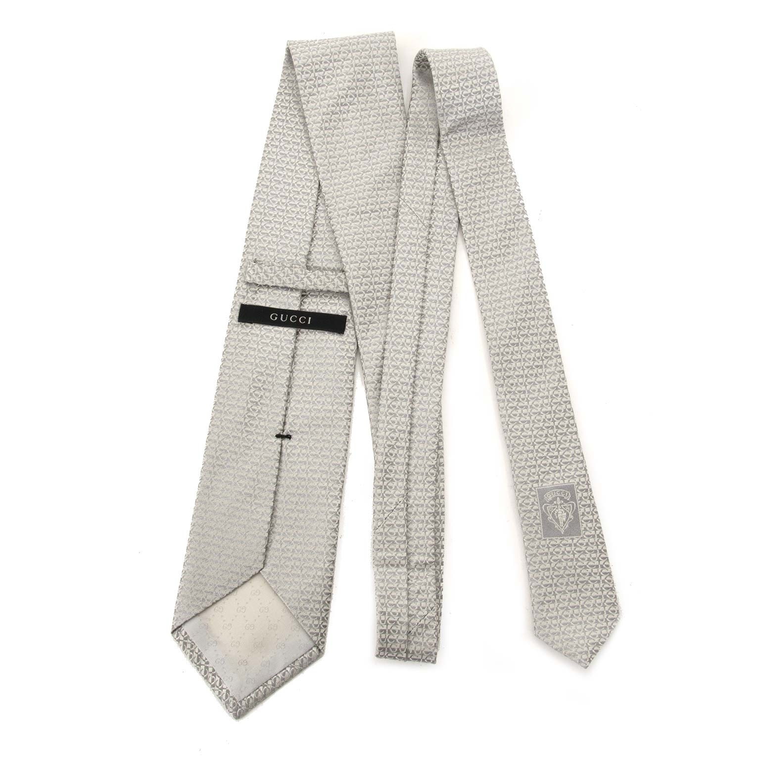 gucci monogram silver tie now for sale at labellov vintage fashion webshop belgium