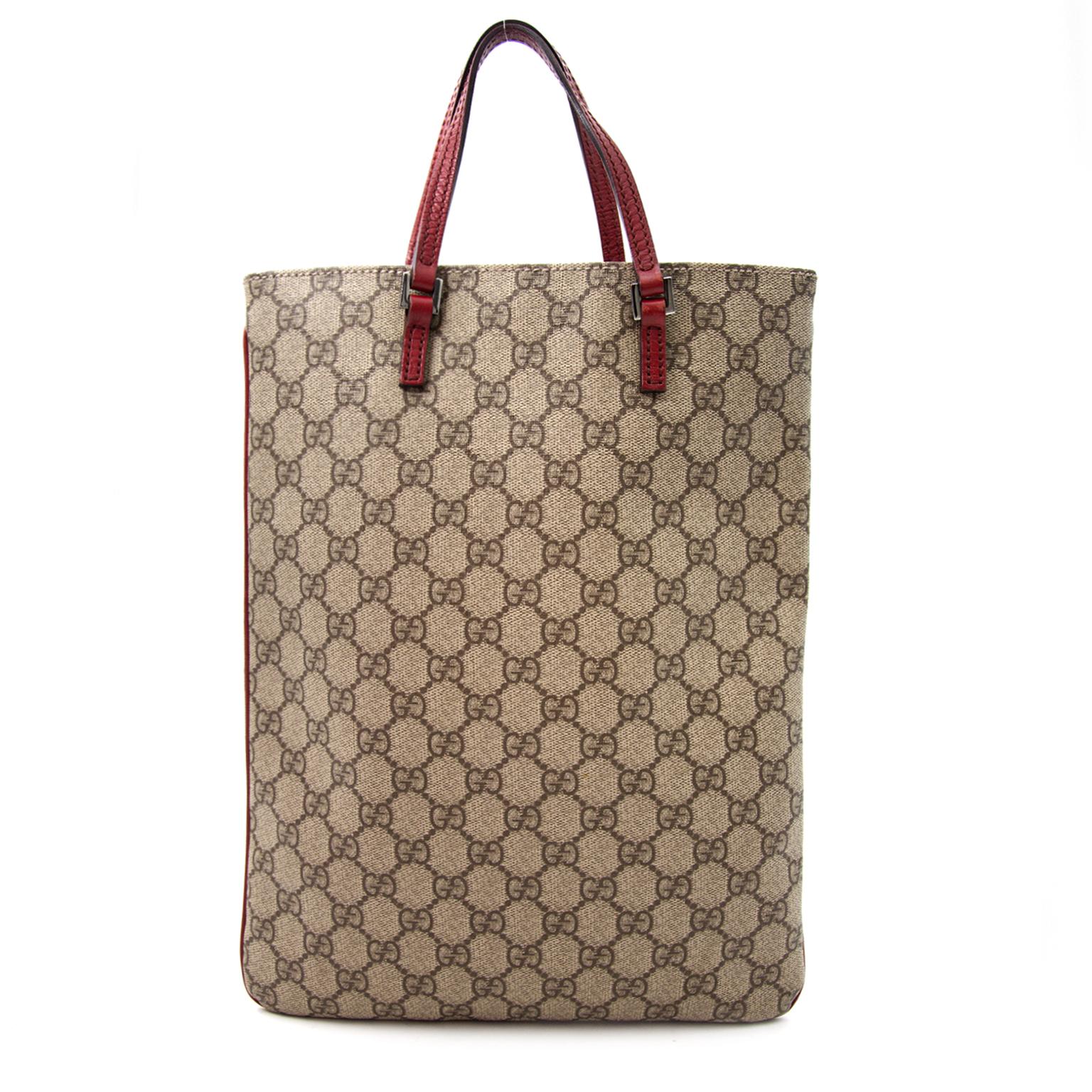Bent u op zoek naar een designer Gucci Monogram Coated Canvas handtas voor het werk? Koop veilig bij Labellov