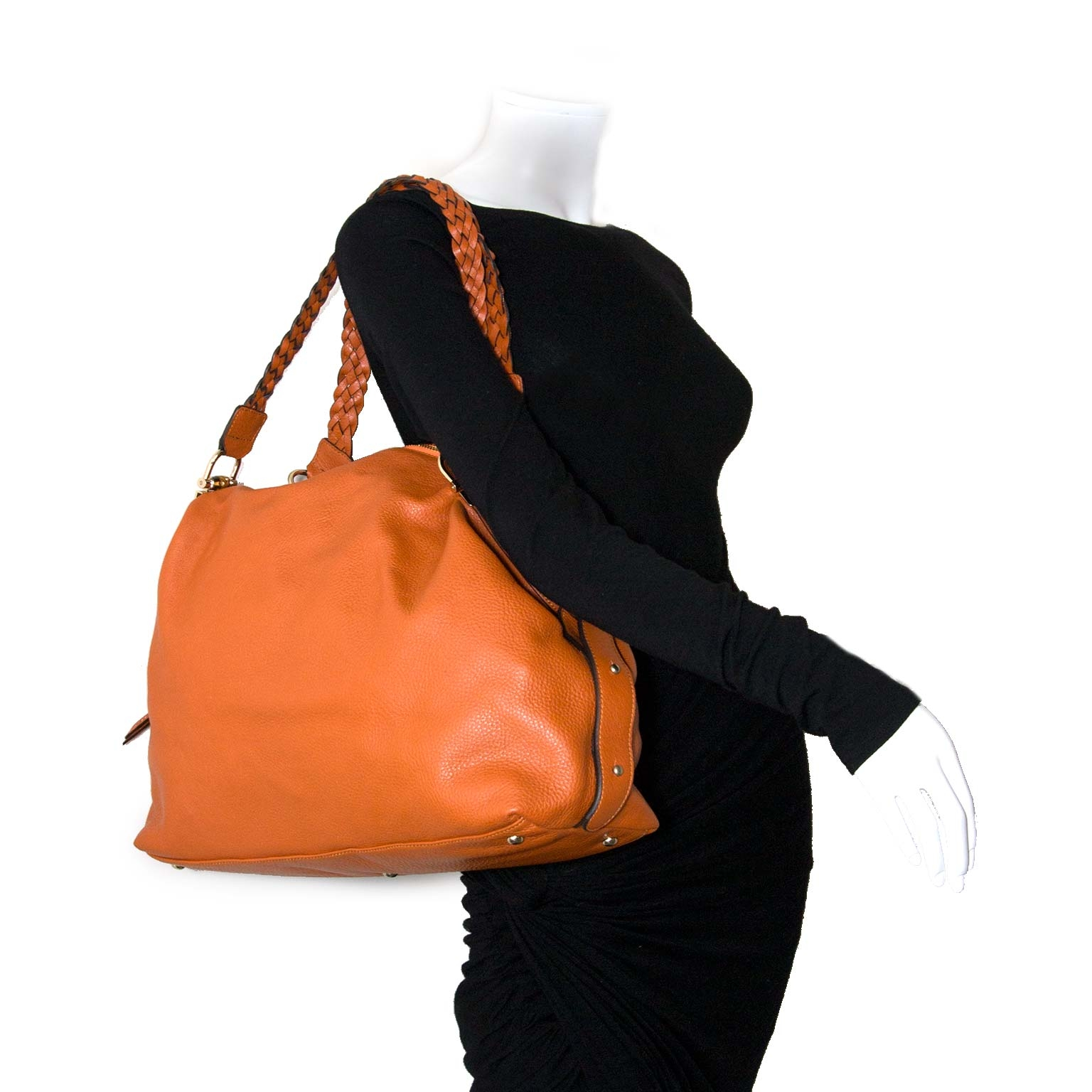 ... gucci orange  bamboo bar  shoulder bag at labellov vintage fashion  webshop belgium 139bf24057ad