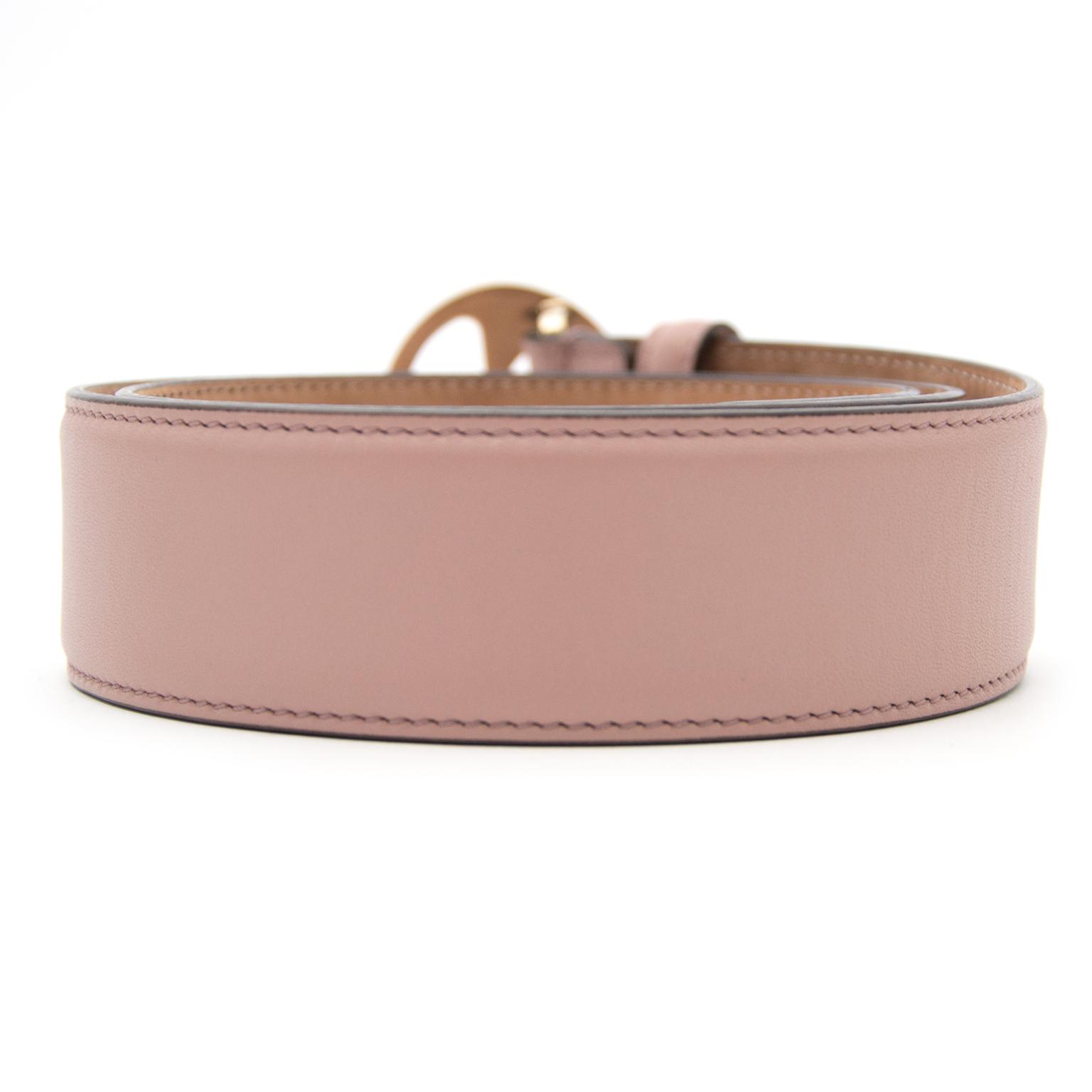 Gucci roze riem nu te koop bij labellov.com tegen de beste prijs