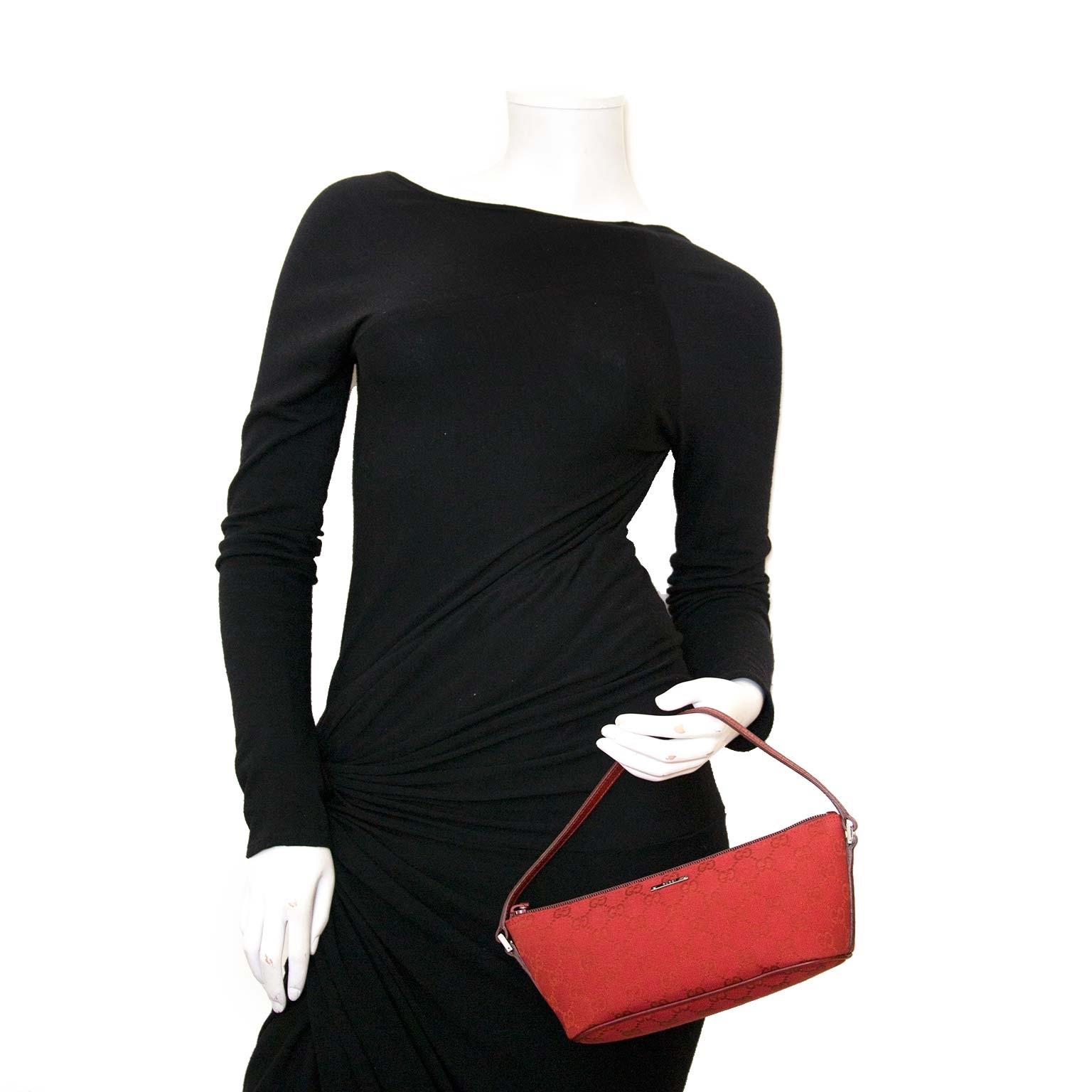 gucci rode monogram accessoire tasje nu te koop bij labellov vintage mode webshop belgië