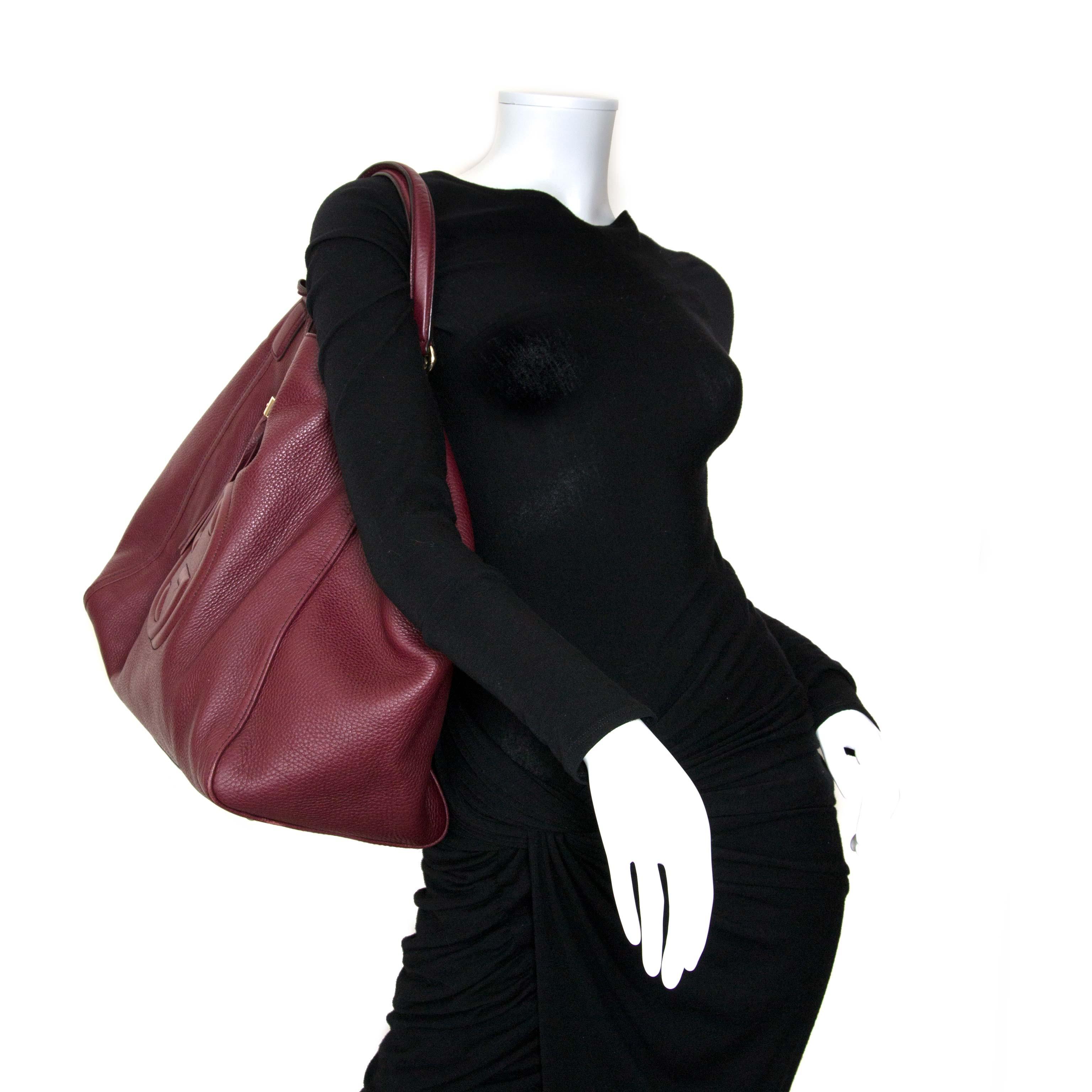 gucci burgundy soho shopper now for sale at labellov vintage fashion webshop belgium