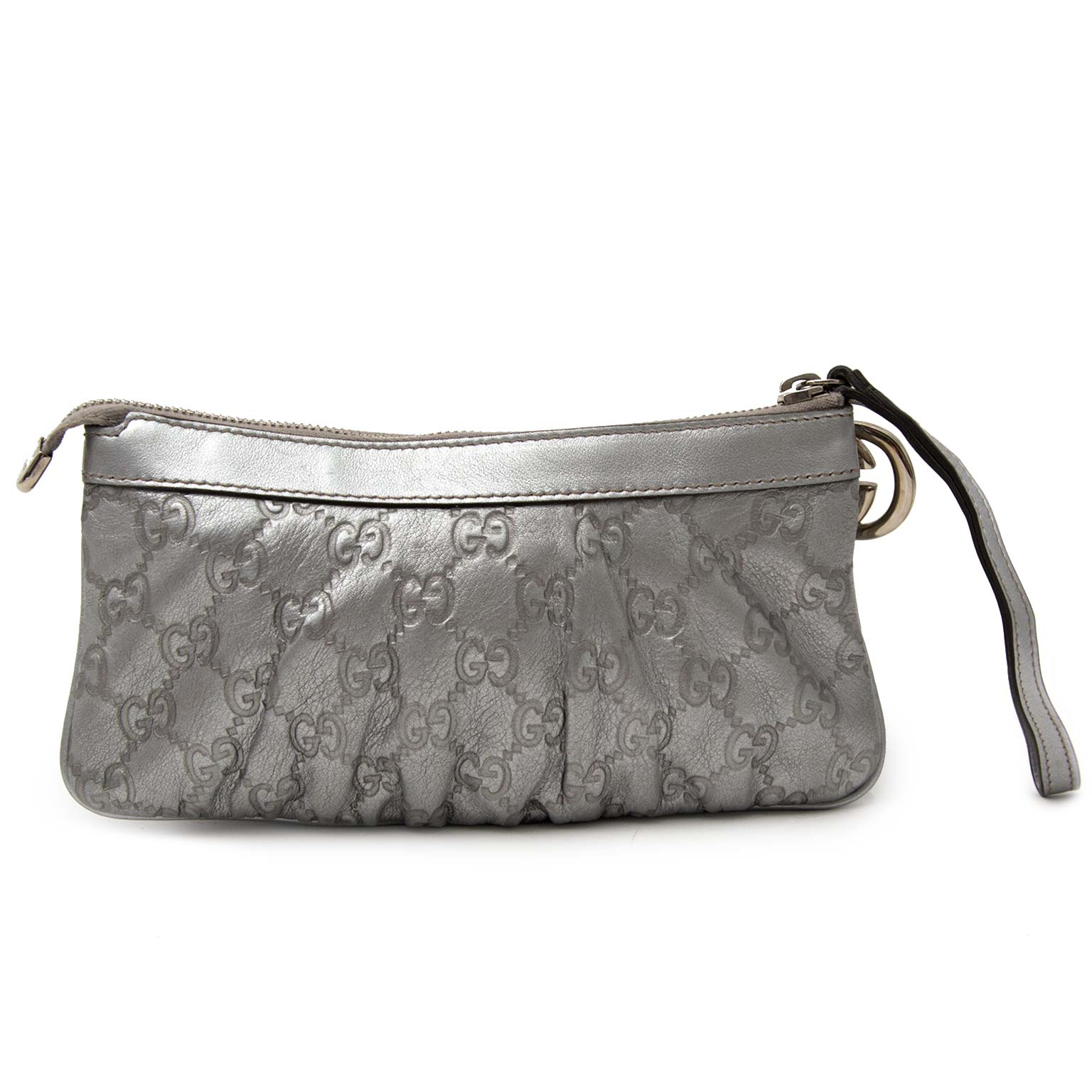 0e8bc92560d2 Buy your authentic Gucci Silver Monogram Pochette Koop uw Gucci Silver  Monogram Pochette