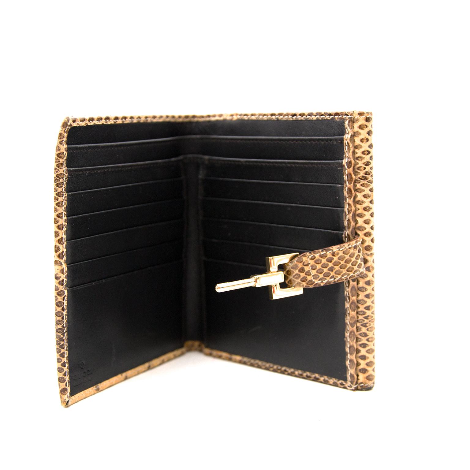 Acheter Gucci Snakeskin Lock Wallet en ligne