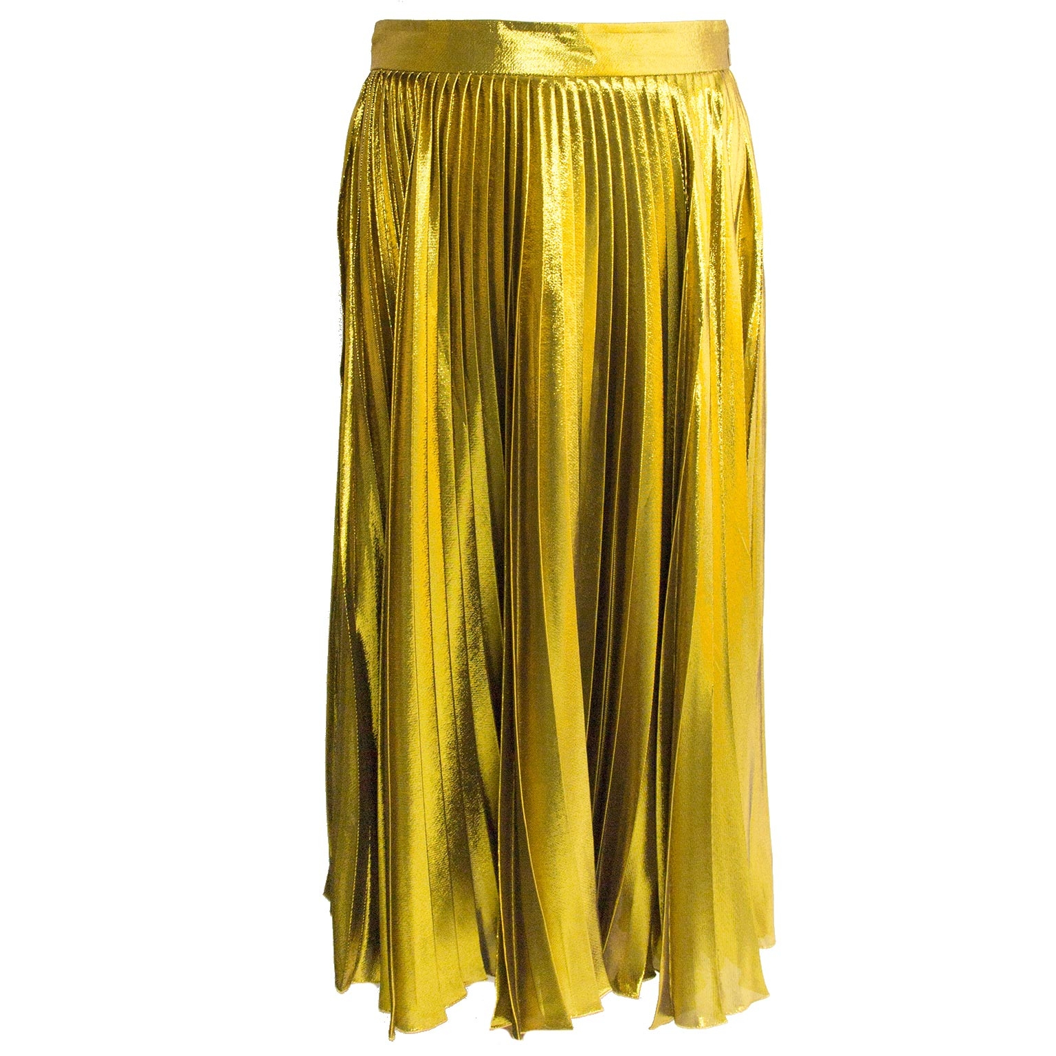gucci gold pleated skirt now for sale at labellov vintage fashion webshop belgium