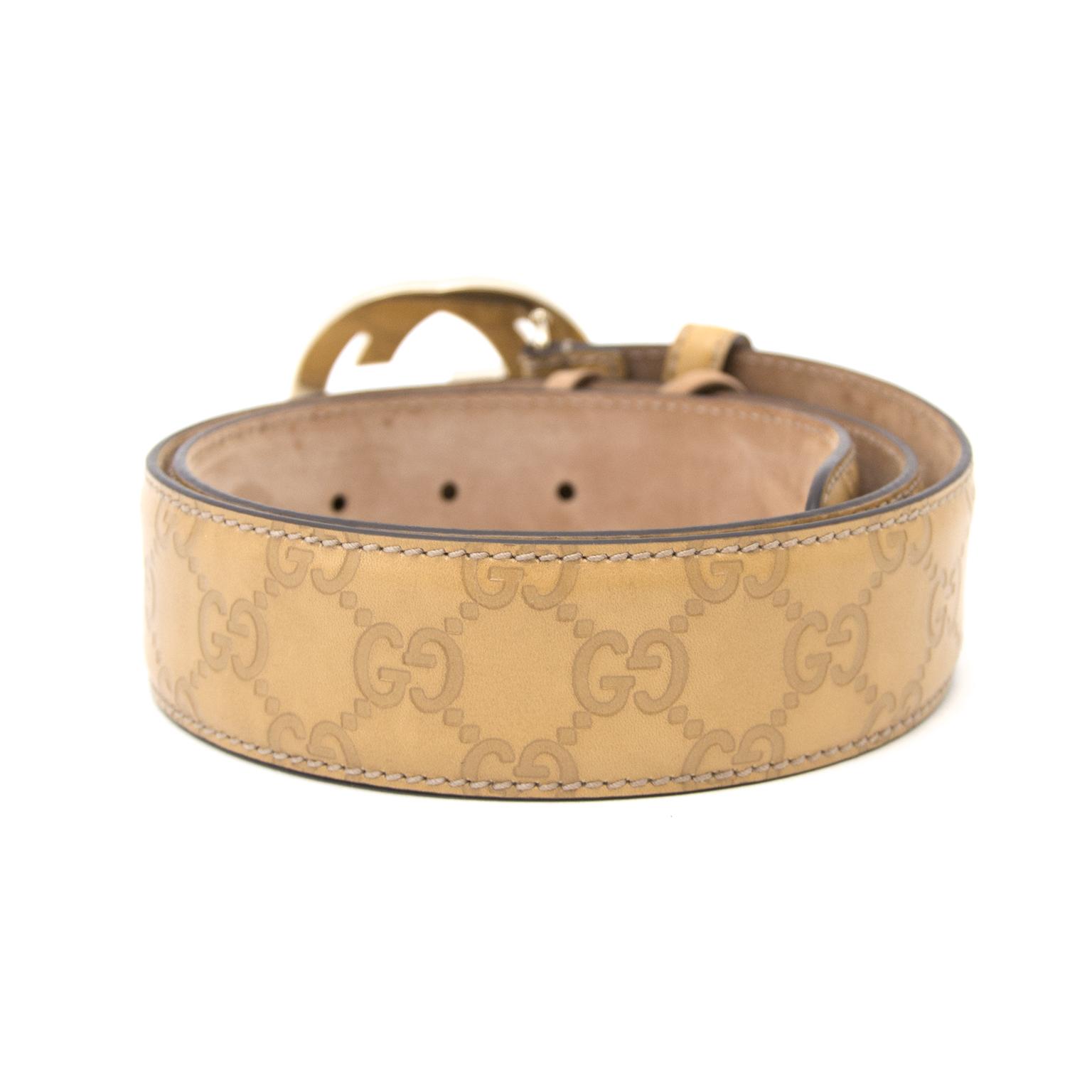Koop nu veilig een echte Gucci 'GG' riem op www.labellov.com aan de beste prijs.