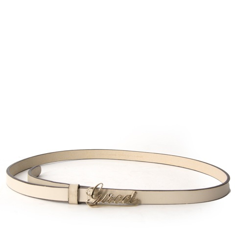 Shop safe online at the best price Gucci cream Belt  like new