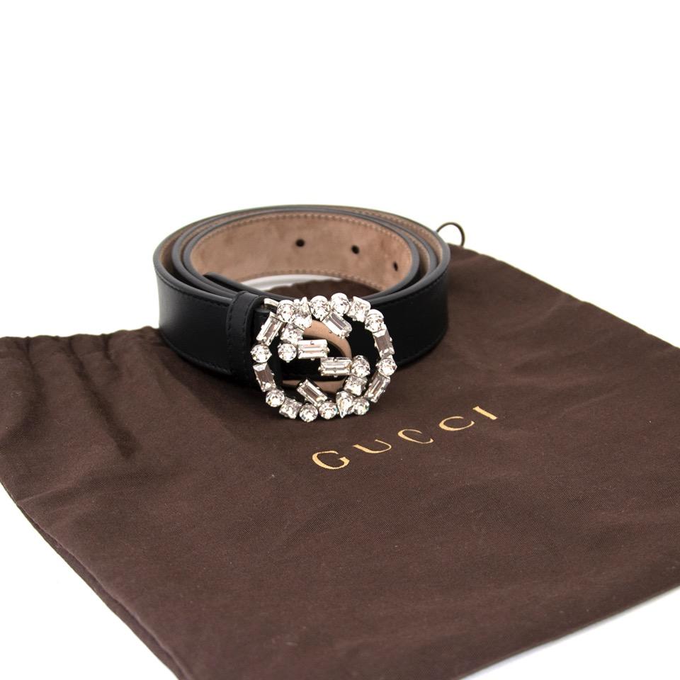 017536ceac6 ... labellov.com shop safe online at the best price Gucci black leather belt  like new webshop www.