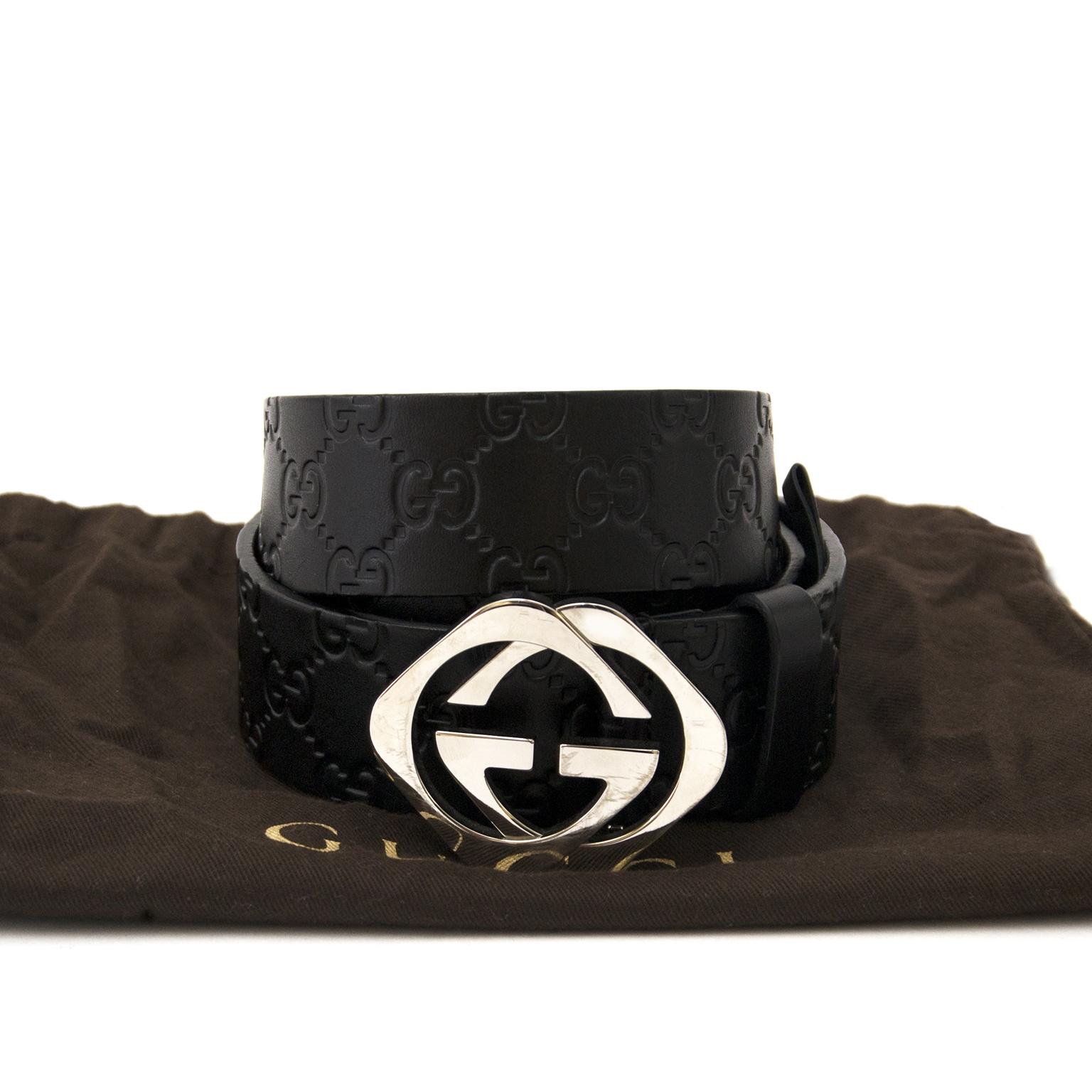 63ff9e86d7d ... sale online at Labellov Acheter secur en ligne votre ceinture en cuir Gucci  monogram pour le meilleur prix