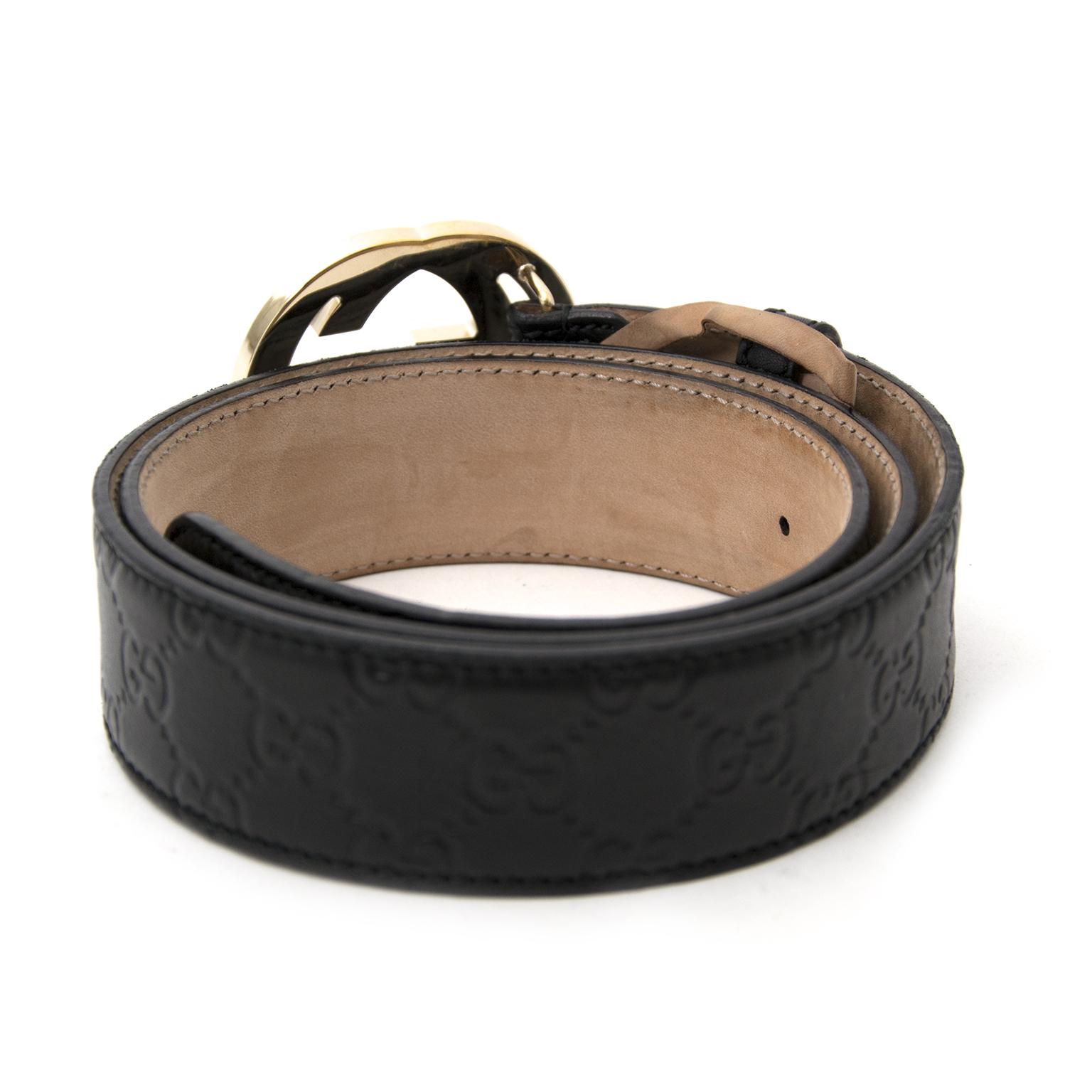 comme neuf sac a main Gucci Black Monogram GG Belt site enligne