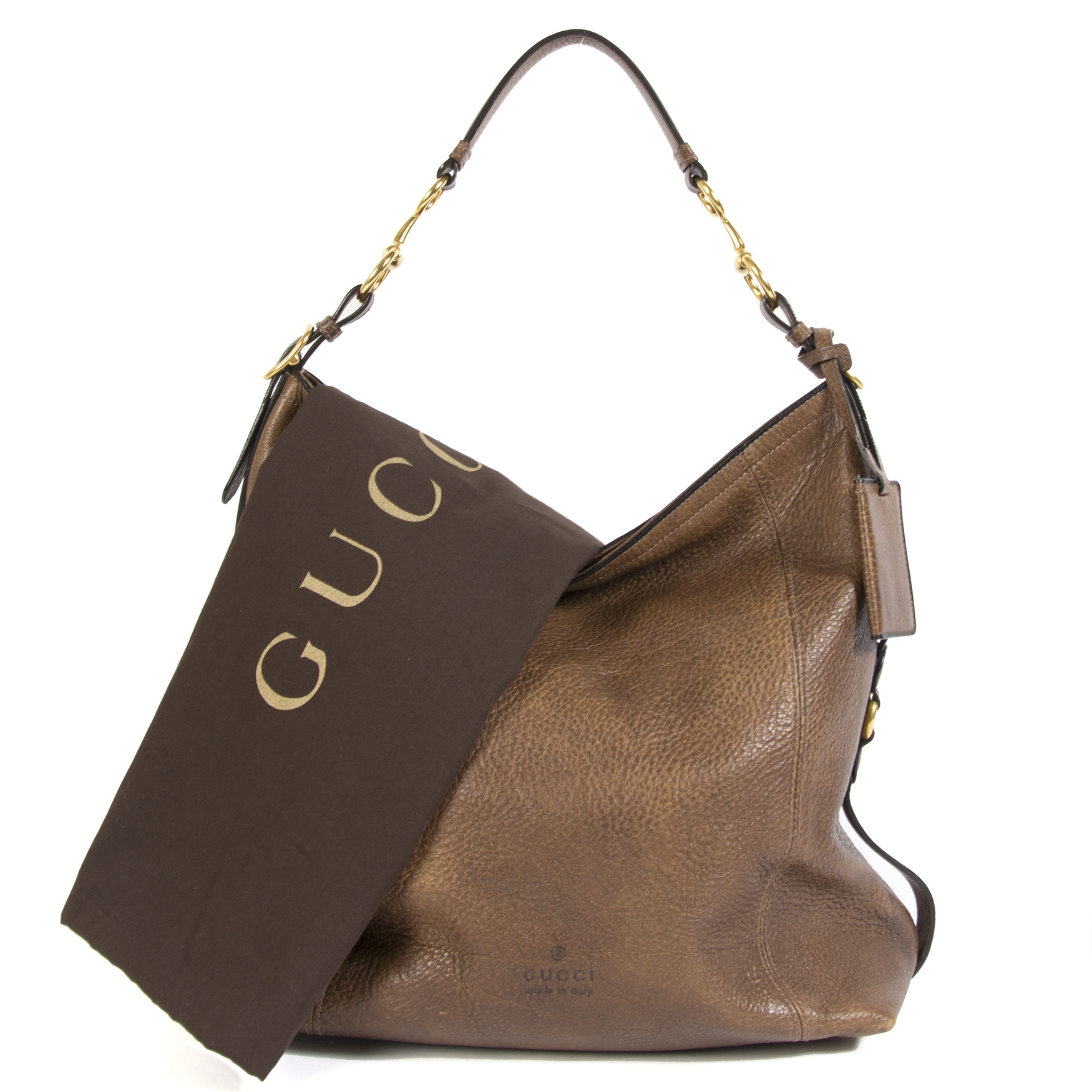 Gucci Harness Leather Hobo Bag