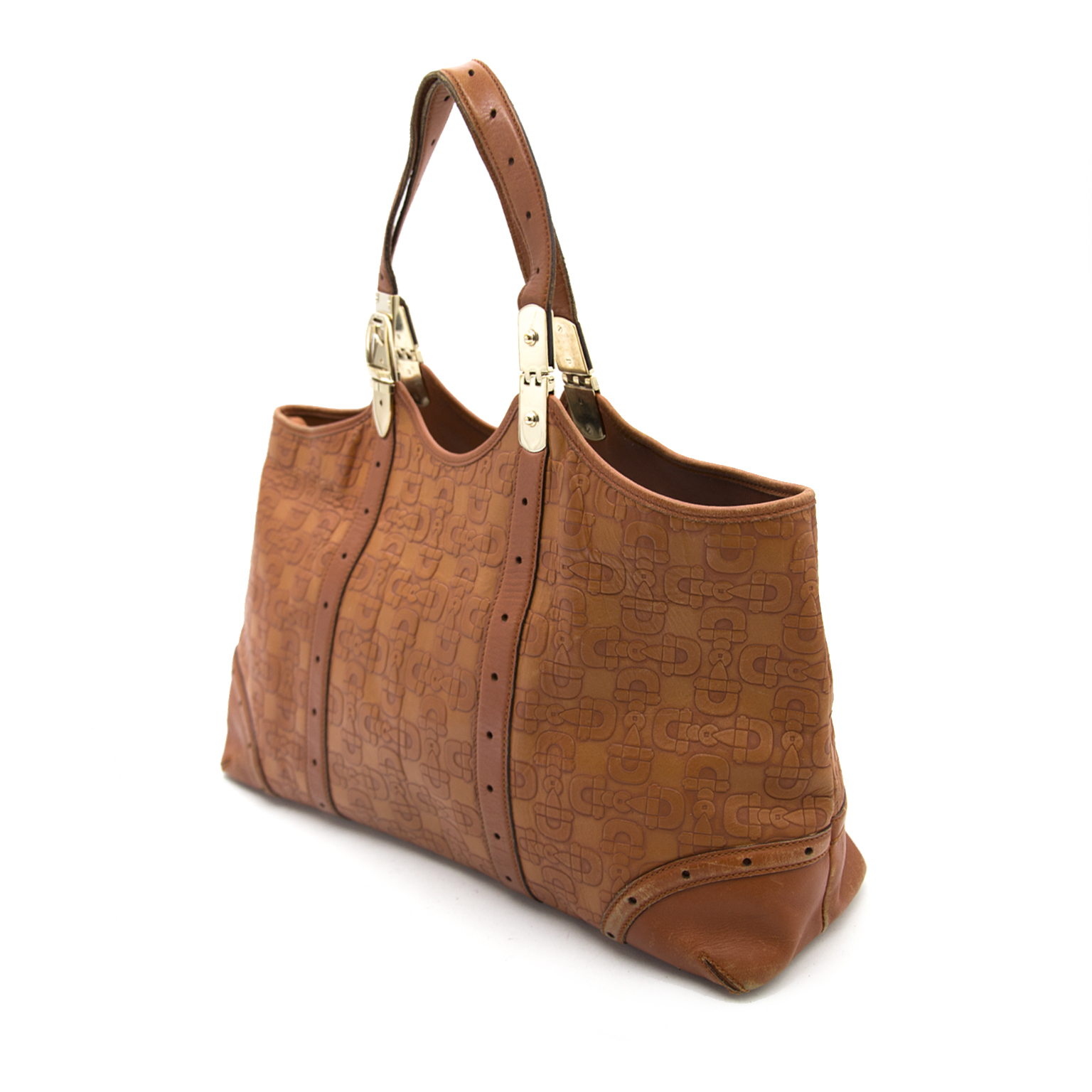 Buy safe and secure online at labellov.com Gucci Brown Shopper now online for the best price