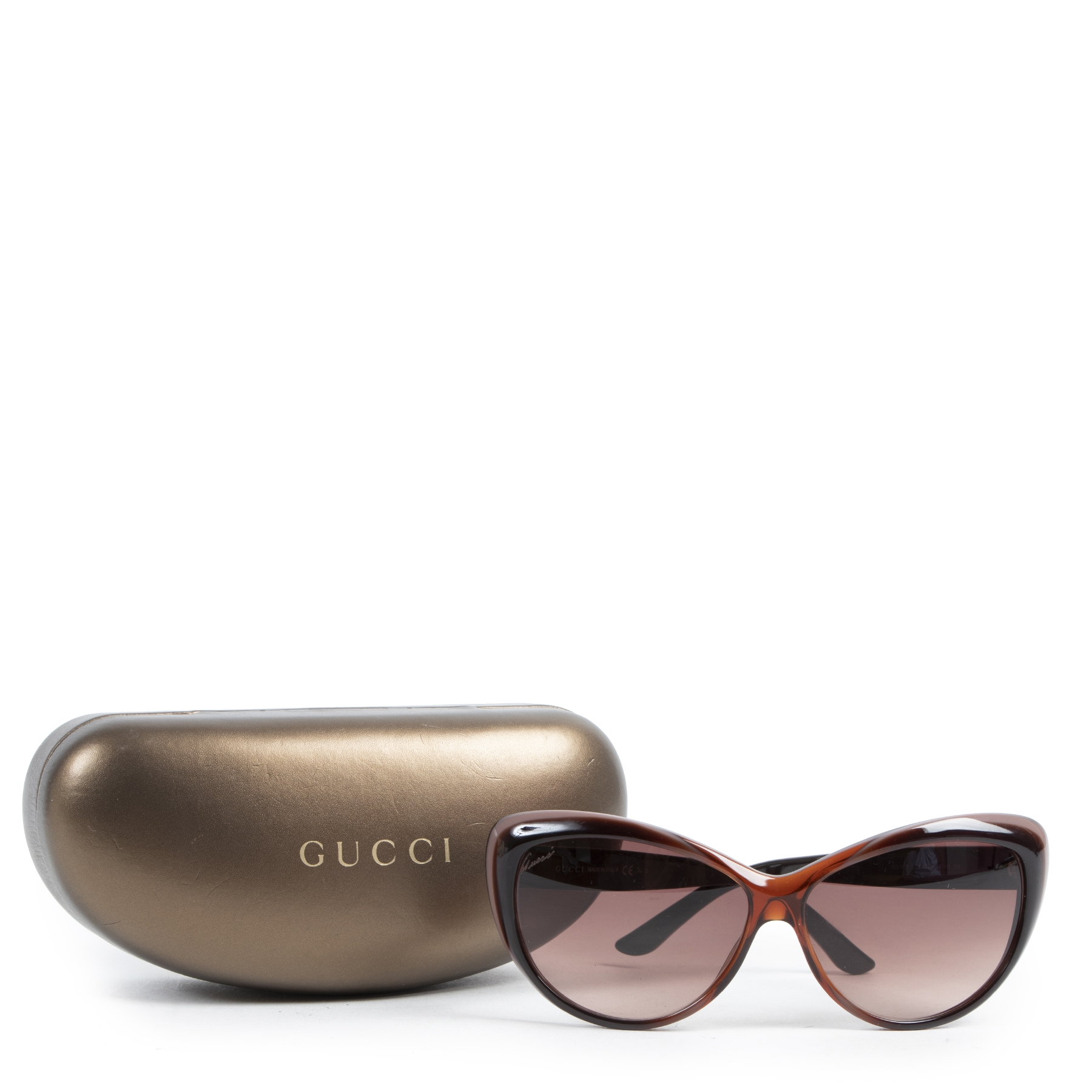 Gucci Brown Cateye Sunglasses for sale at Labellov