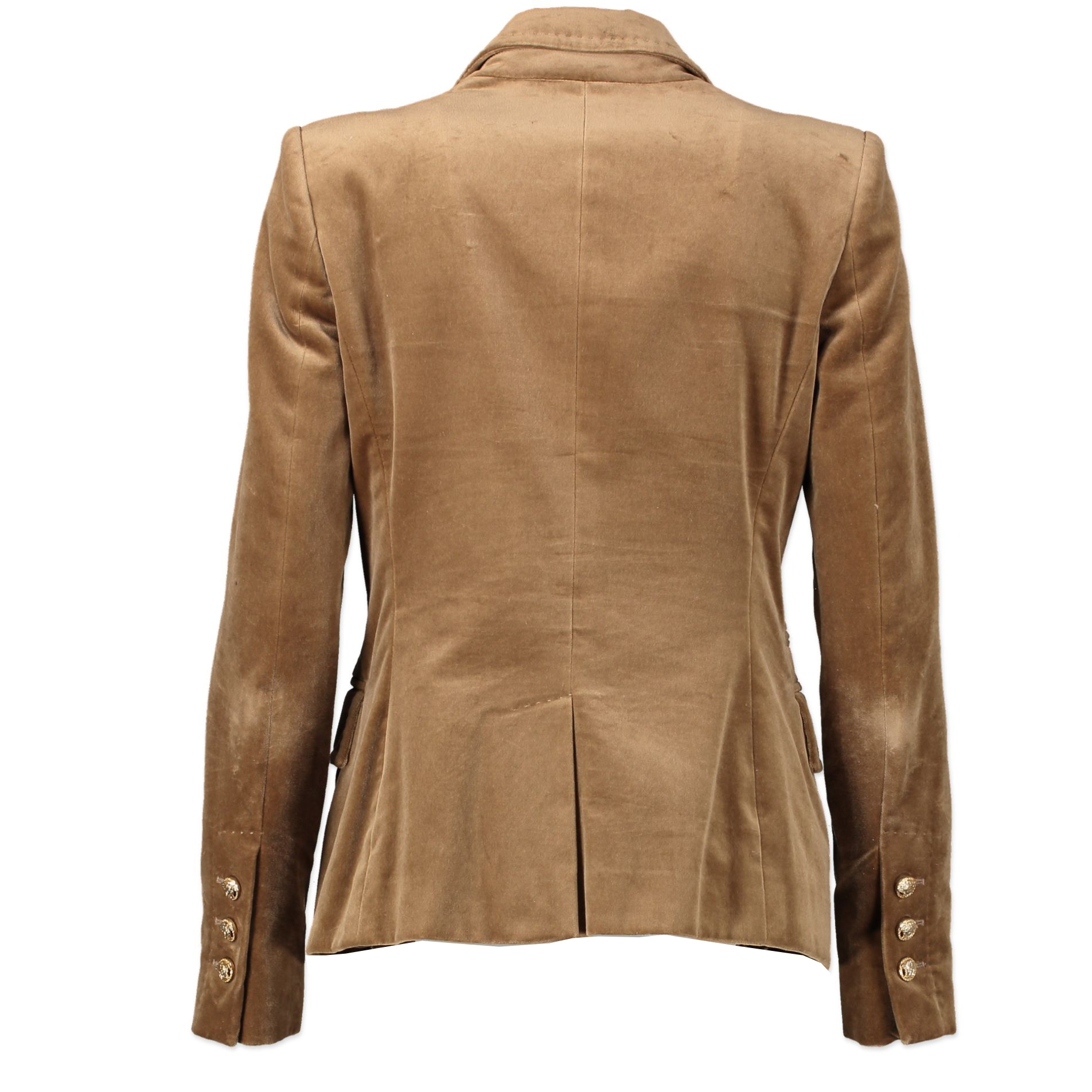 Versace Light Brown Velvet Blazer - size 38