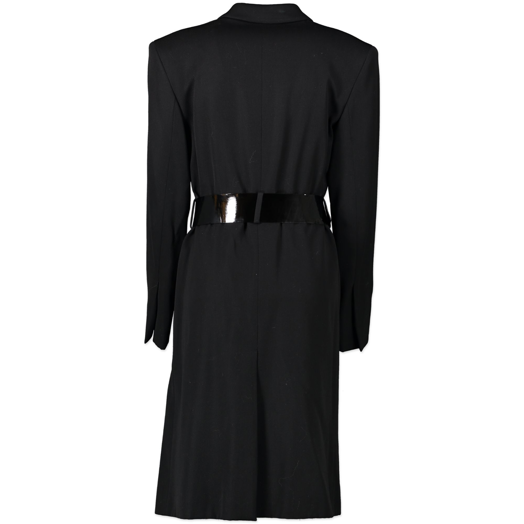 Buy Authentic secondhand Gucci Black Wool Blend Single Breasted Long Coat - Size 42 at the right price online safe and secure online webshop Luxery brand LabelLOV Antwerp Belgium