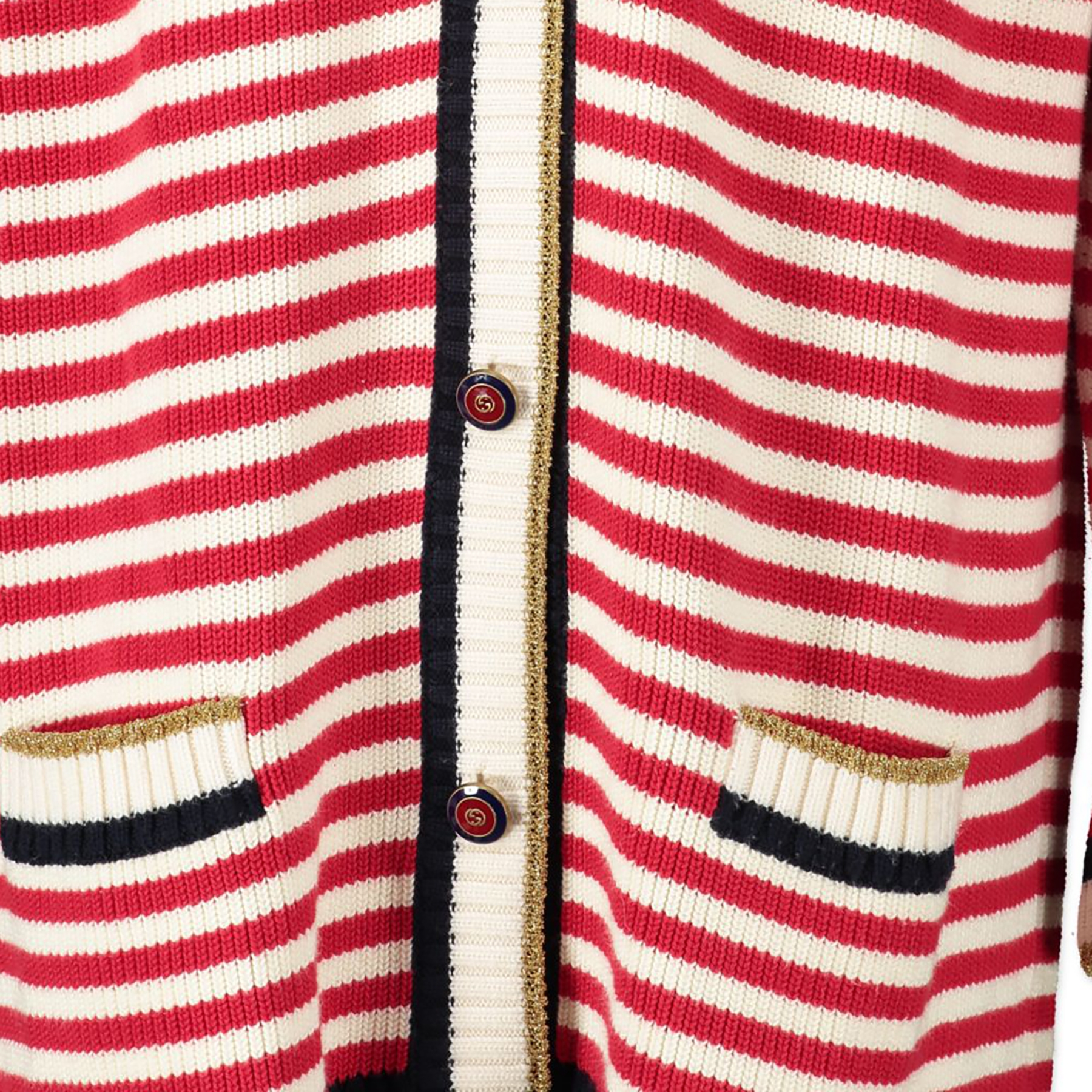 acheter en ligne seconde main Gucci Striped Wool Cardigan - Size XXL
